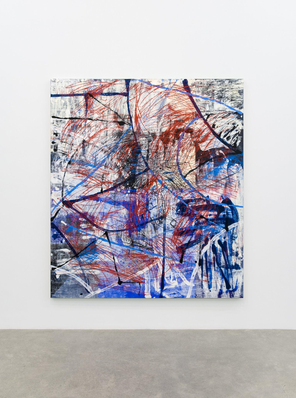 """Damian Moppett, Untitled """"Y"""", 2016, oil on canvas, 84 x 74 in. (213 x 188 cm) by Damian Moppett"""