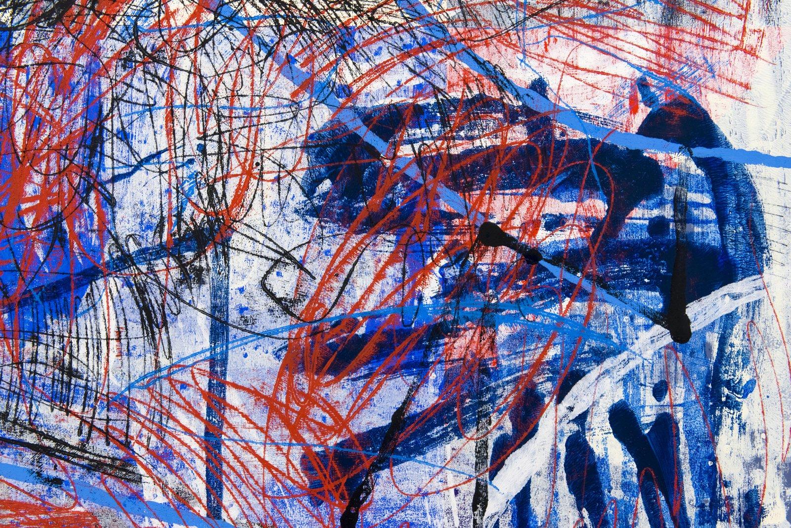 """Damian Moppett, Untitled """"Y"""" (detail), 2016, oil on canvas, 84 x 74 in. (213 x 188 cm) by Damian Moppett"""