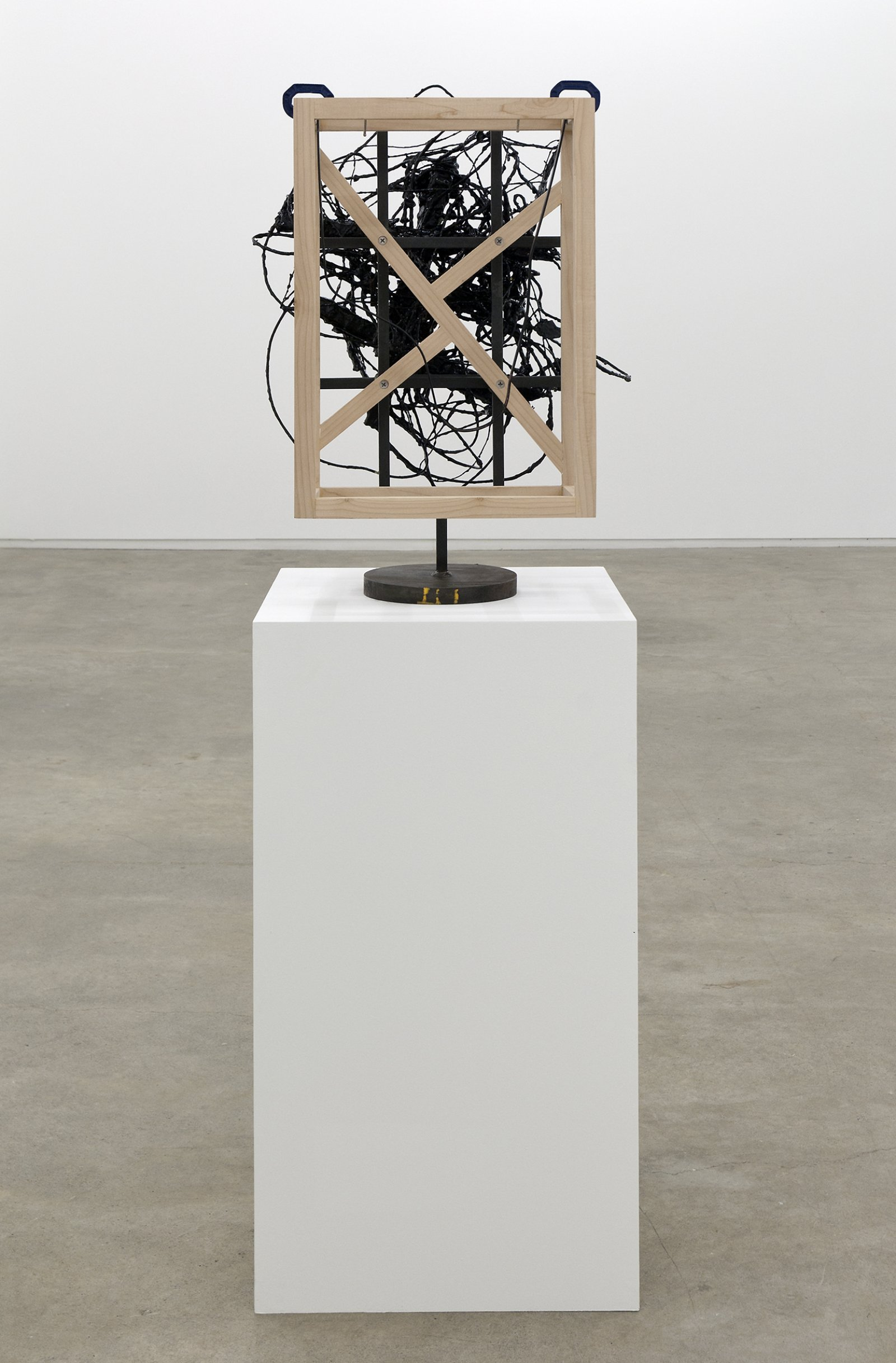 Damian Moppett, Untitled, 2010, steel, wood, wire, plaster, enamel, clamps, 27 x 18 x 18 in. (69 x 46 x 44 cm) by Damian Moppett
