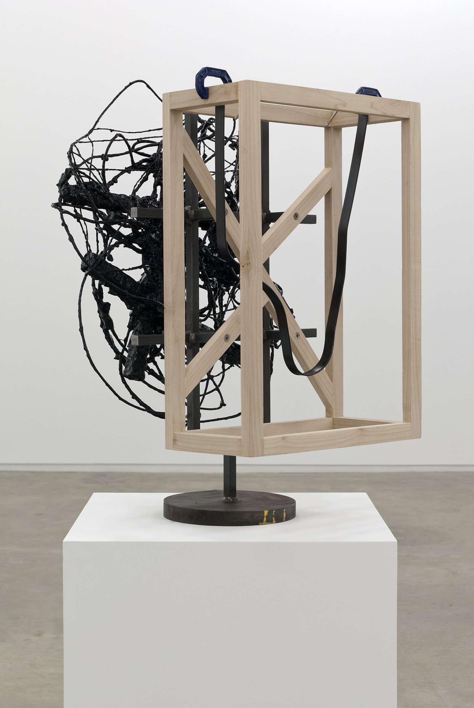 Damian Moppett, Untitled (detail), ​2010, steel, wood, wire, plaster, enamel, clamps, 27 x 18 x 18 in. (69 x 46 x 44 cm) by Damian Moppett