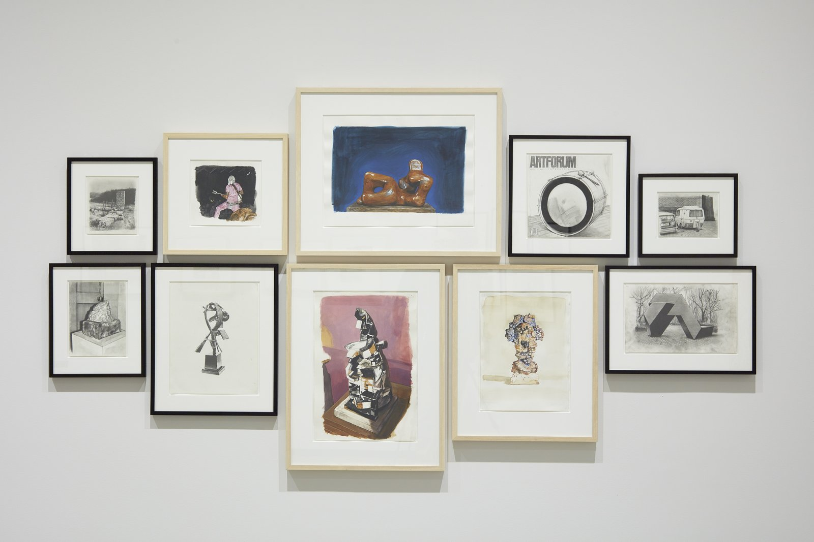 Damian Moppett, Watercolour Drawing Project, 2004–2008, watercolour on paper, dimensions variable. Installation view, Every Story Has Two Sides, Art Gallery of Alberta, Edmonton, 2016 by Damian Moppett