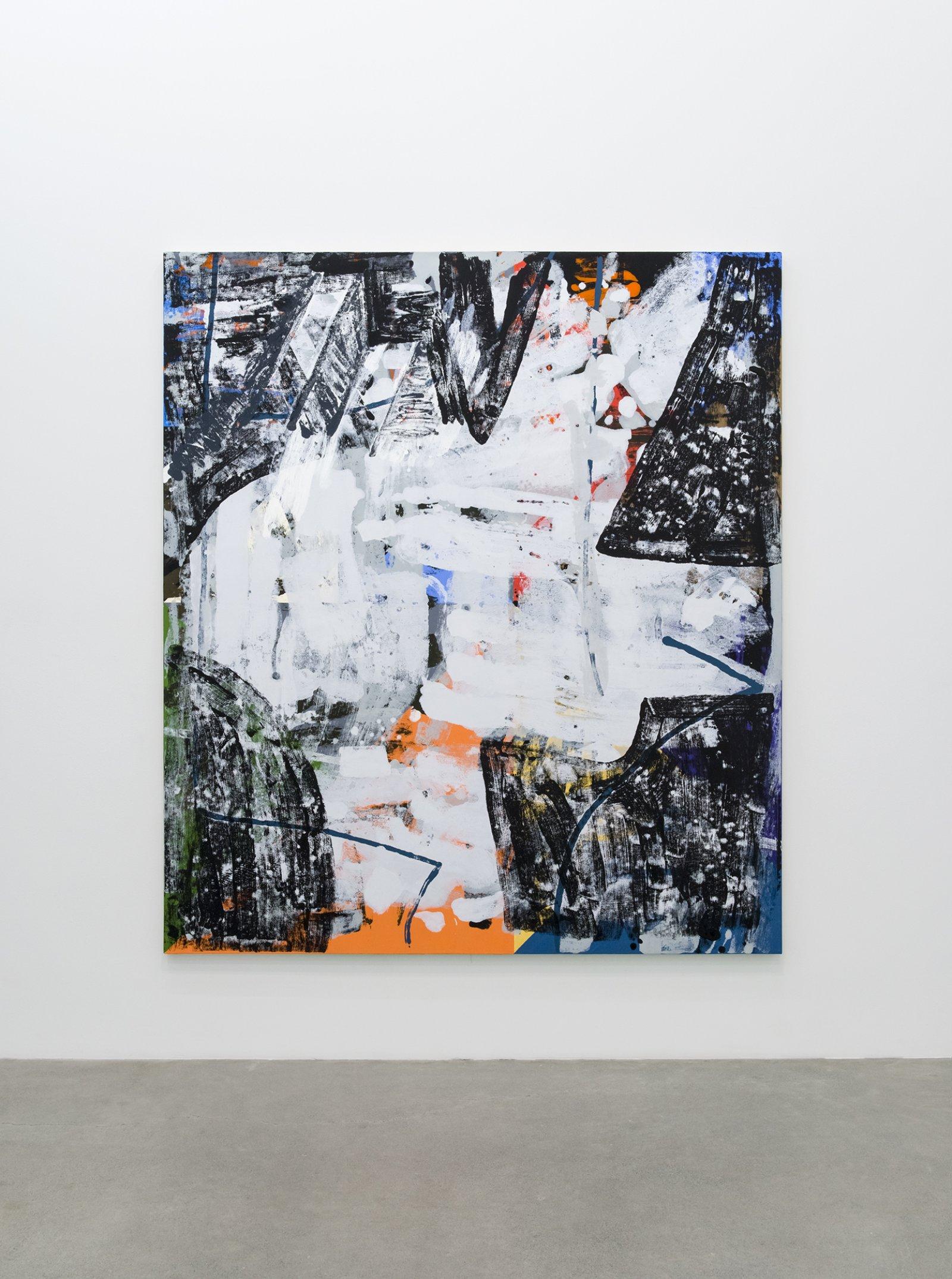 Damian Moppett, X, 2016, oil on canvas, 84 x 74 in. (213 x 188 cm) by Damian Moppett