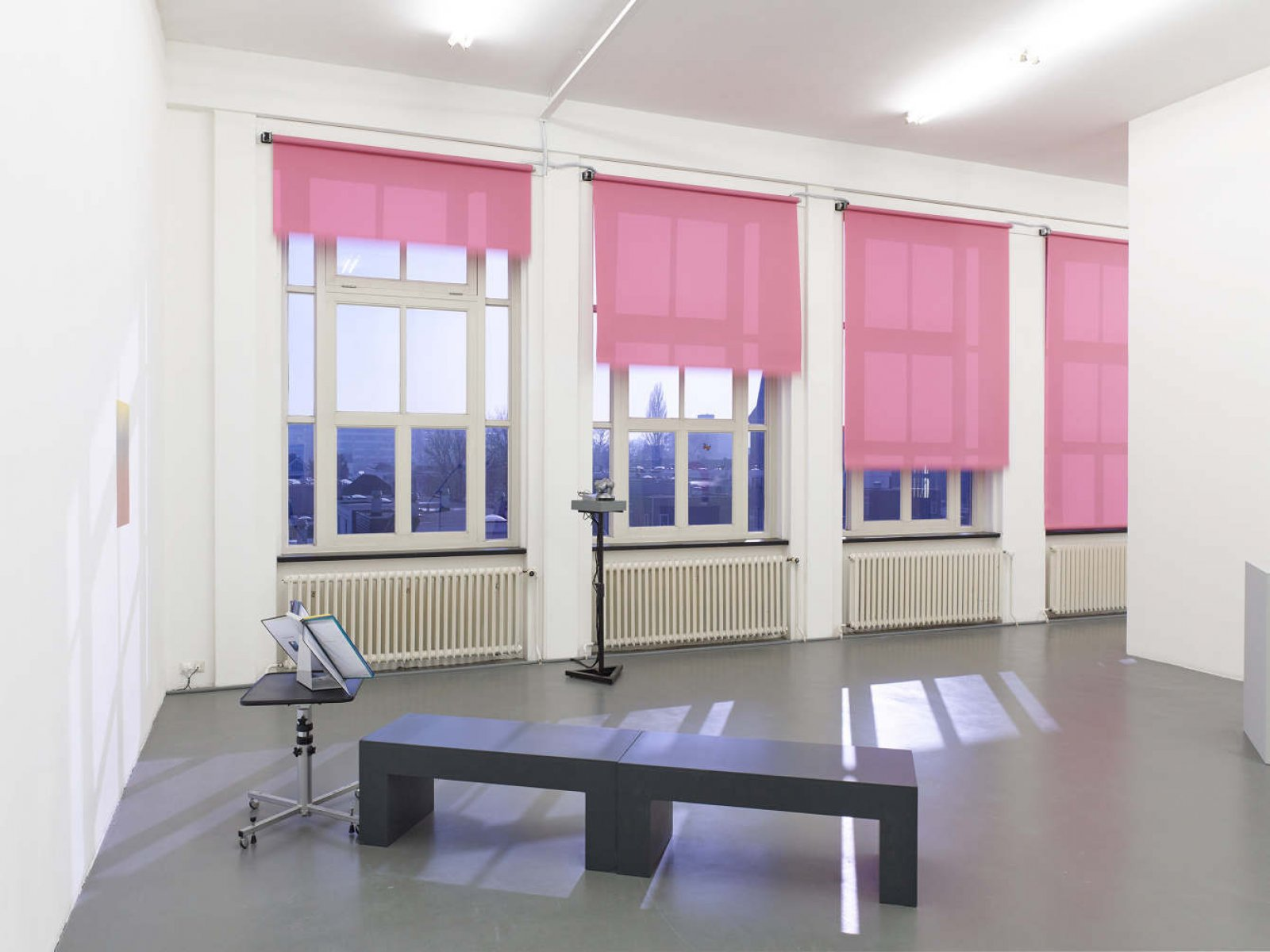 ​Judy Radul, installation view, ​​the king, the door, the thief, the window, the stranger, the camera, Witte de With, Rotterdam, 2017​ by Judy Radul