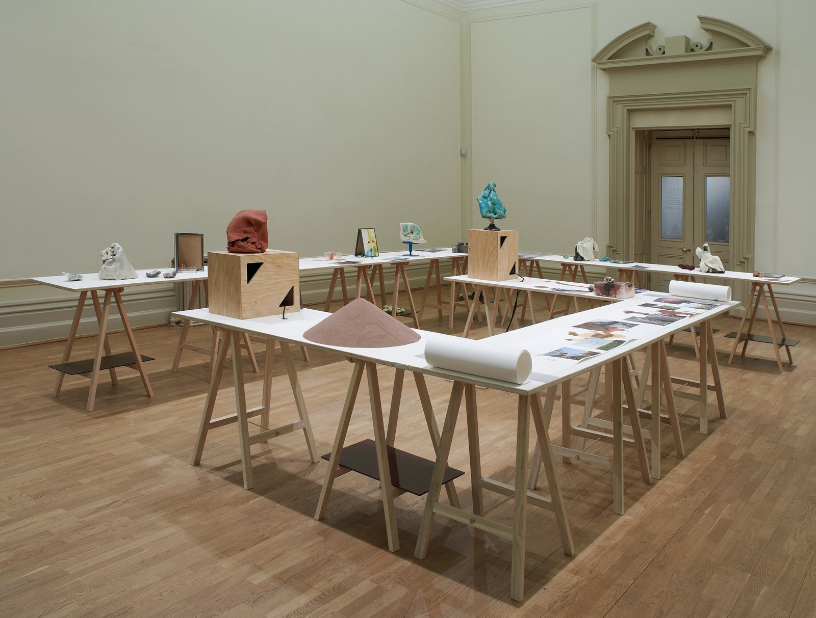 Christina Mackie, The Judges III, 2013, mixed media, dimensions variable. Installation view, Nottingham Castle Museum, 2013 by Christina Mackie