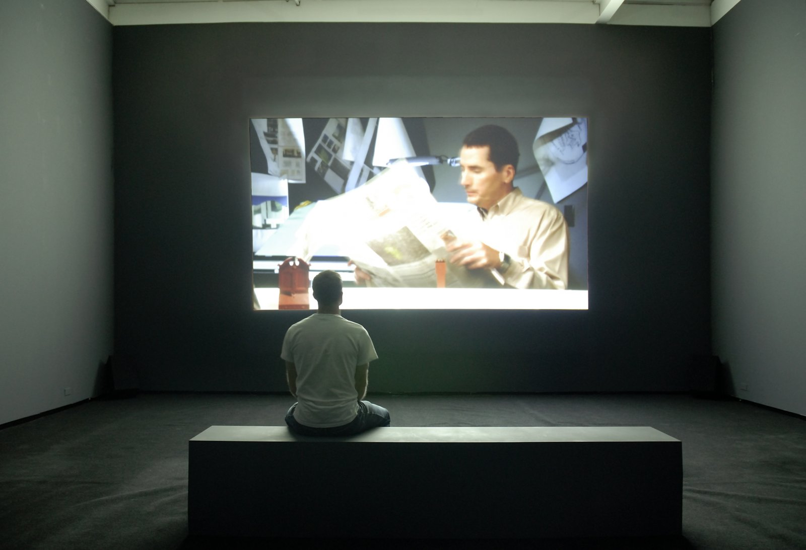 Judy Radul, Describe Video, 2007, HD DVD projection, 16 minutes, 38 seconds by Judy Radul