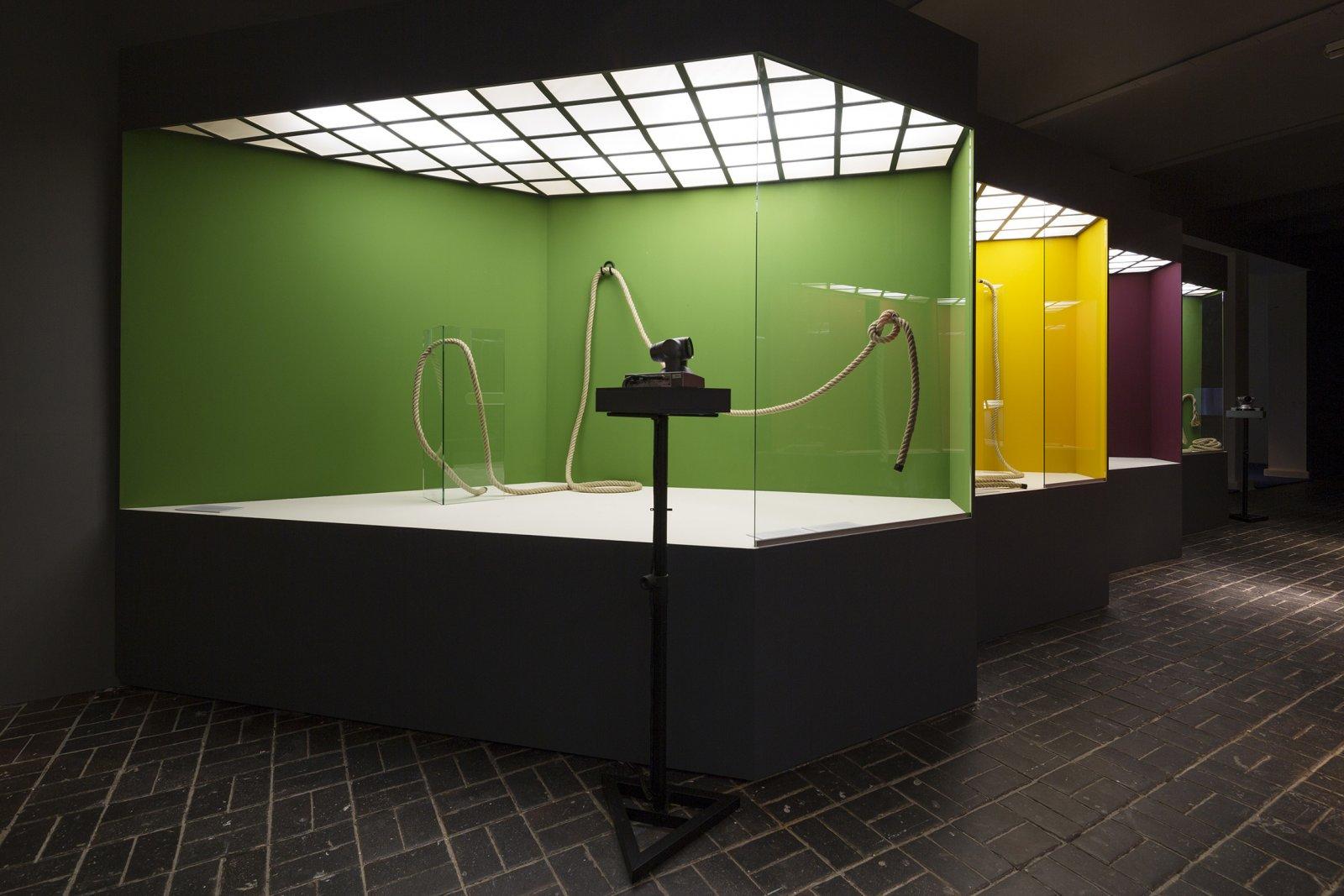 Judy Radul, Look. Look Away. Look Back, 2014, mixed media, dimensions variable. Installation view, 8th BerlinBiennale,Berlin,Germany, 2014 by Judy Radul