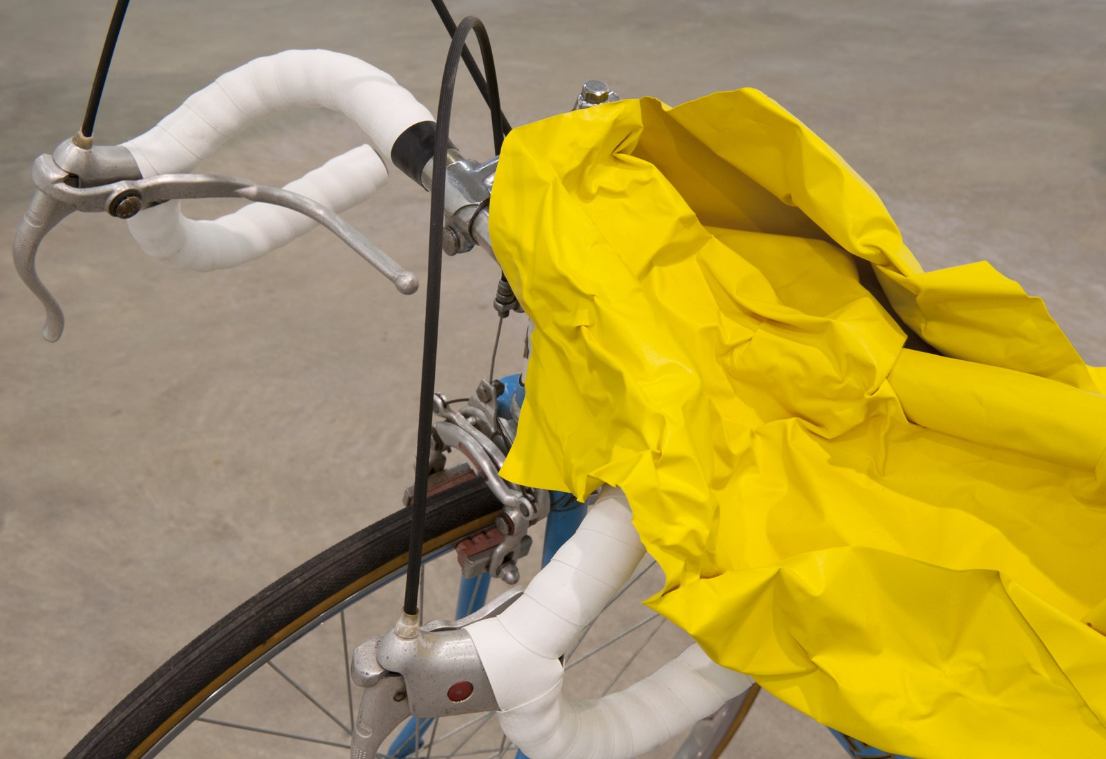 Judy Radul, Object Analysis Spectator Poem (Bicycle) (detail), 2012, painted copper, bicycle, colour photograph, bicycle: 38 x 26 x 58 in. (92 x 66 x 147 cm), photo: 8 x 11 x 5 in. (20 x 28 x 13 cm)   by Judy Radul