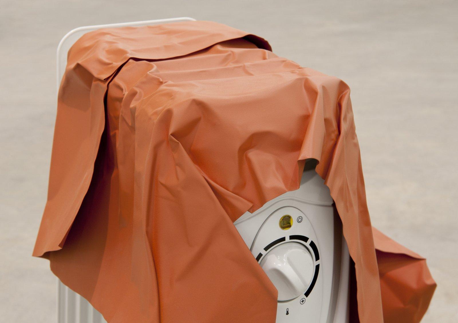 Judy Radul, Object Analysis Spectator Poem (Heater) (detail), 2012, painted copper, heater, colour photograph, heater: 26 x 15 x 11 in. (65 x 38 x 28 cm), photo: 8 x 11 x 5 in. (20 x 28 x 13 cm)  by Judy Radul