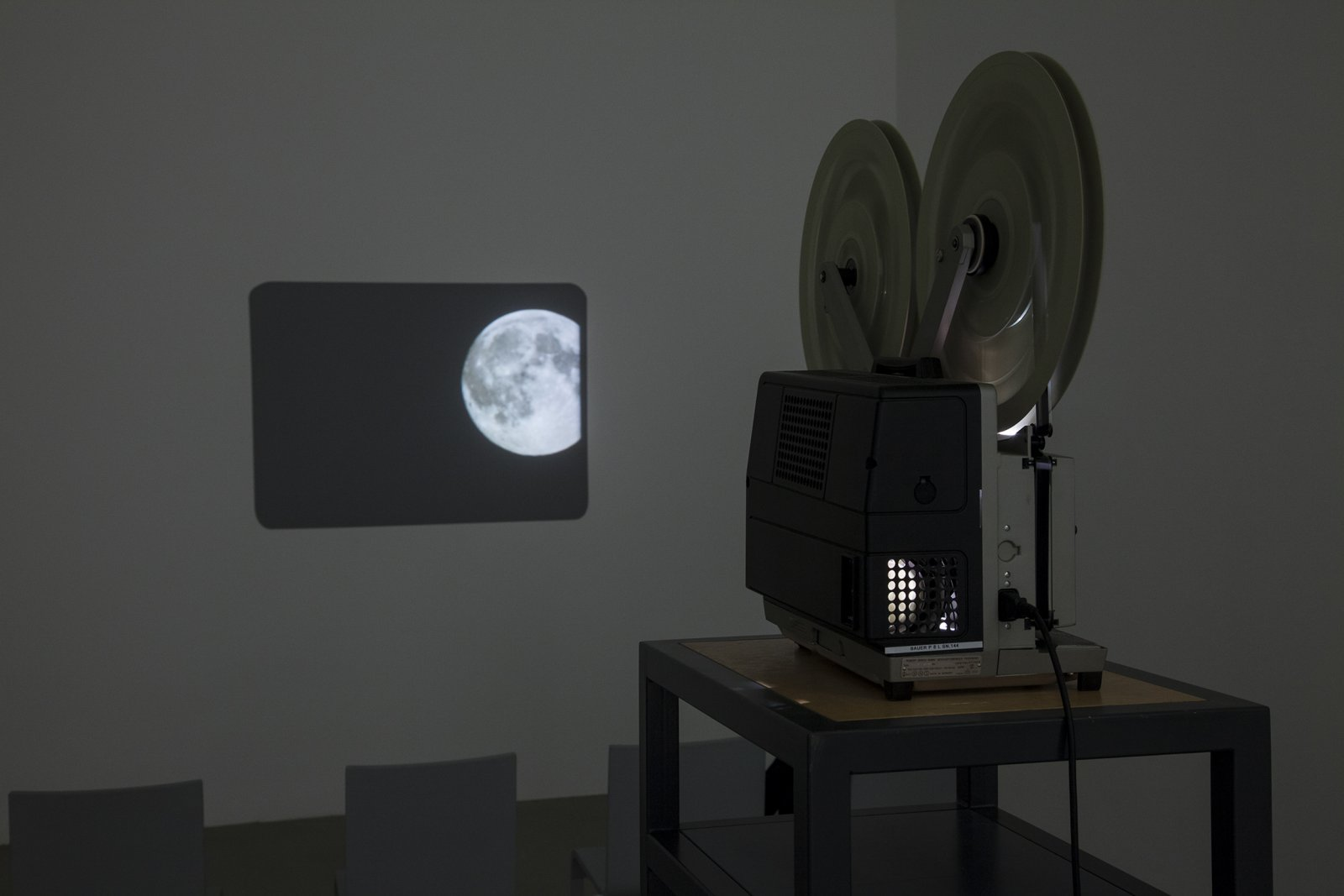 Judy Radul, THIS IS TELEVISION, 2013, 16mm film, colour, silent, 10 minutes, 8 seconds. Installation view, This is Television, Daadgalerie, Berlin, Germany, 2013 by Judy Radul