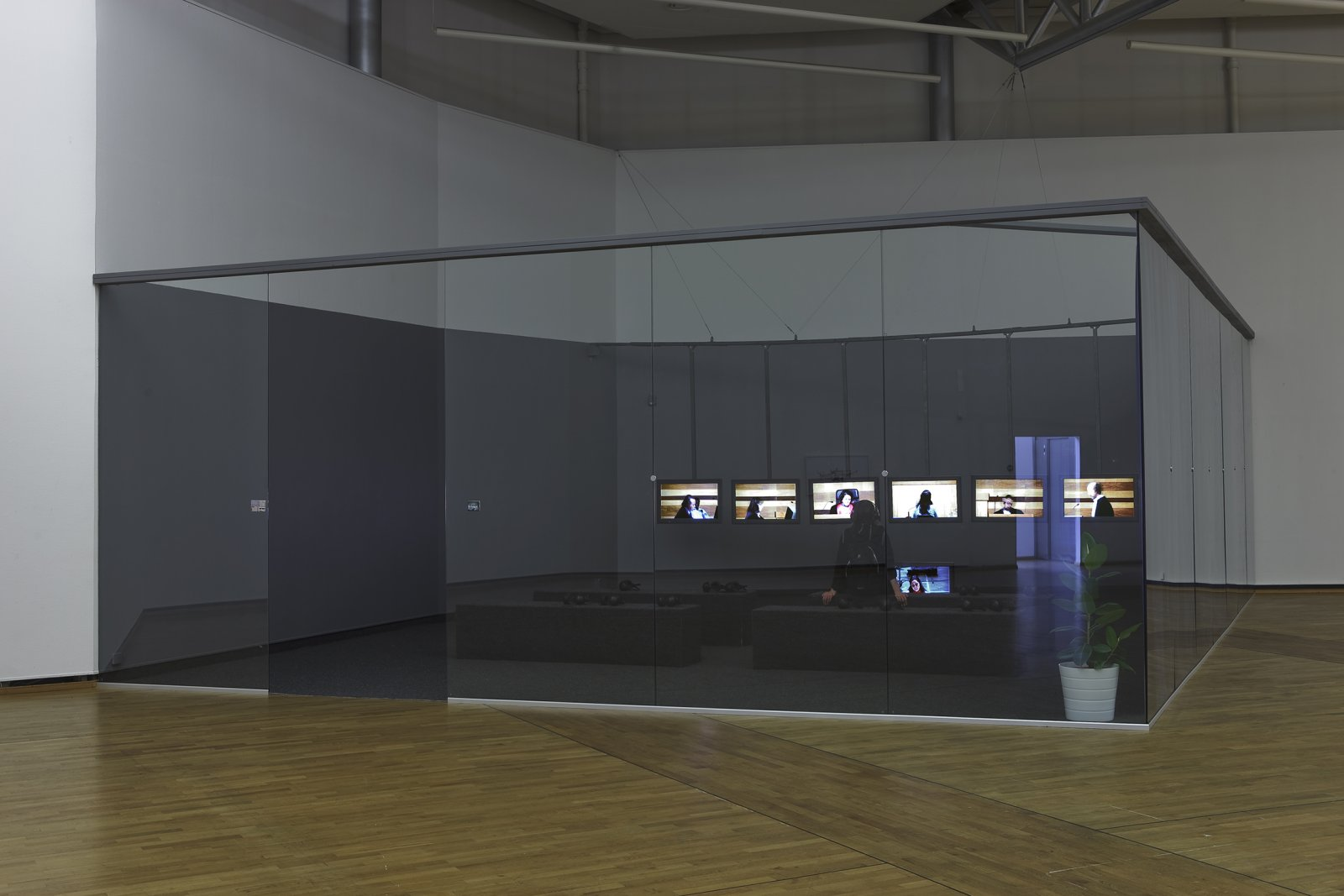 Judy Radul, World Rehearsal Court, 2009, mixed media, dimensions variable. Installation view, World Rehearsal Court, Henie Onstad Kunstsenter, Høvikodden, Norway, 2011 by Judy Radul