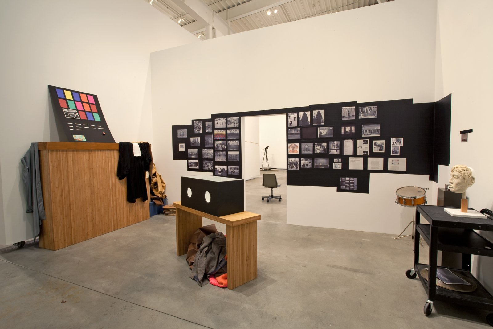 Judy Radul, World Rehearsal Court, 2009, mixed media, dimensions variable. Installation view, World Rehearsal Court, Morris and Helen Belkin Art Gallery, Vancouver, 2009 by Judy Radul