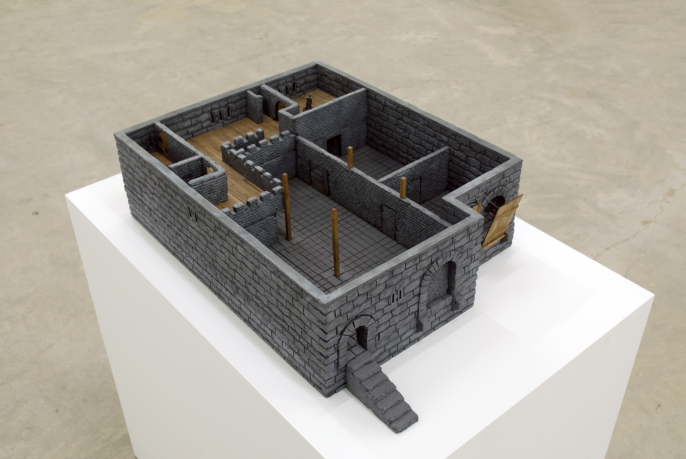 Kevin Schmidt, Dungeon Crawl, 2006, foam, balsa wood, plaster and paint, 12 x 17 x 24 in. (31 x 43 x 61 cm) by