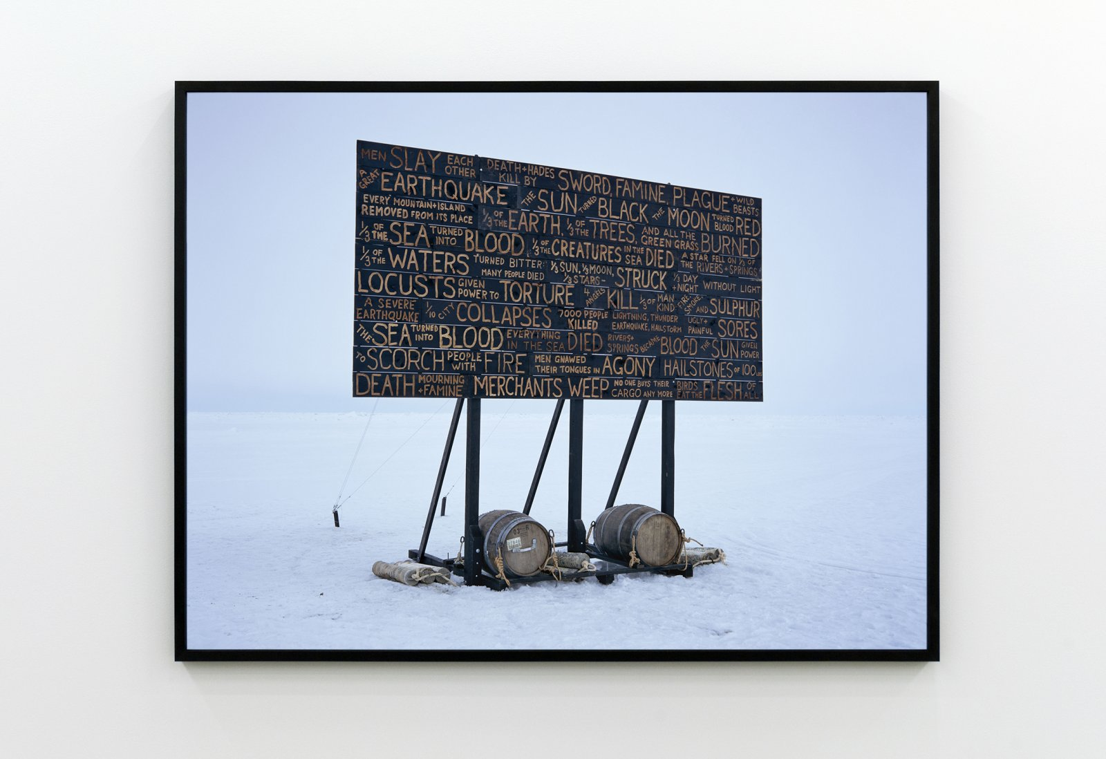 Kevin Schmidt, A Sign in the Northwest Passage (Museum Photograph)​, 2010, c-print, cedar frame, 64 x 49 in. (163 x 124 cm) by Kevin Schmidt