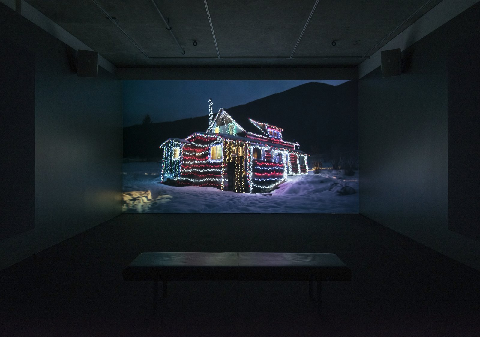 Kevin Schmidt, EDM House, 2014, HD video, 16 minutes, 54 seconds. Installation view, Contemporary Art Gallery, Vancouver, 2014