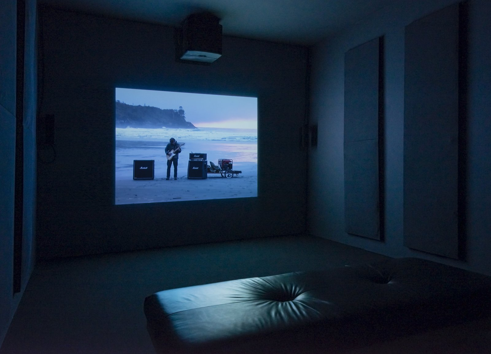 Kevin Schmidt, Long Beach Led Zep, 2002, single channel video from DVD, 9 minutes, 12 seconds looped. Installation view, The Commons, Kamloops Art Gallery, Kamloops, Canada, 2015