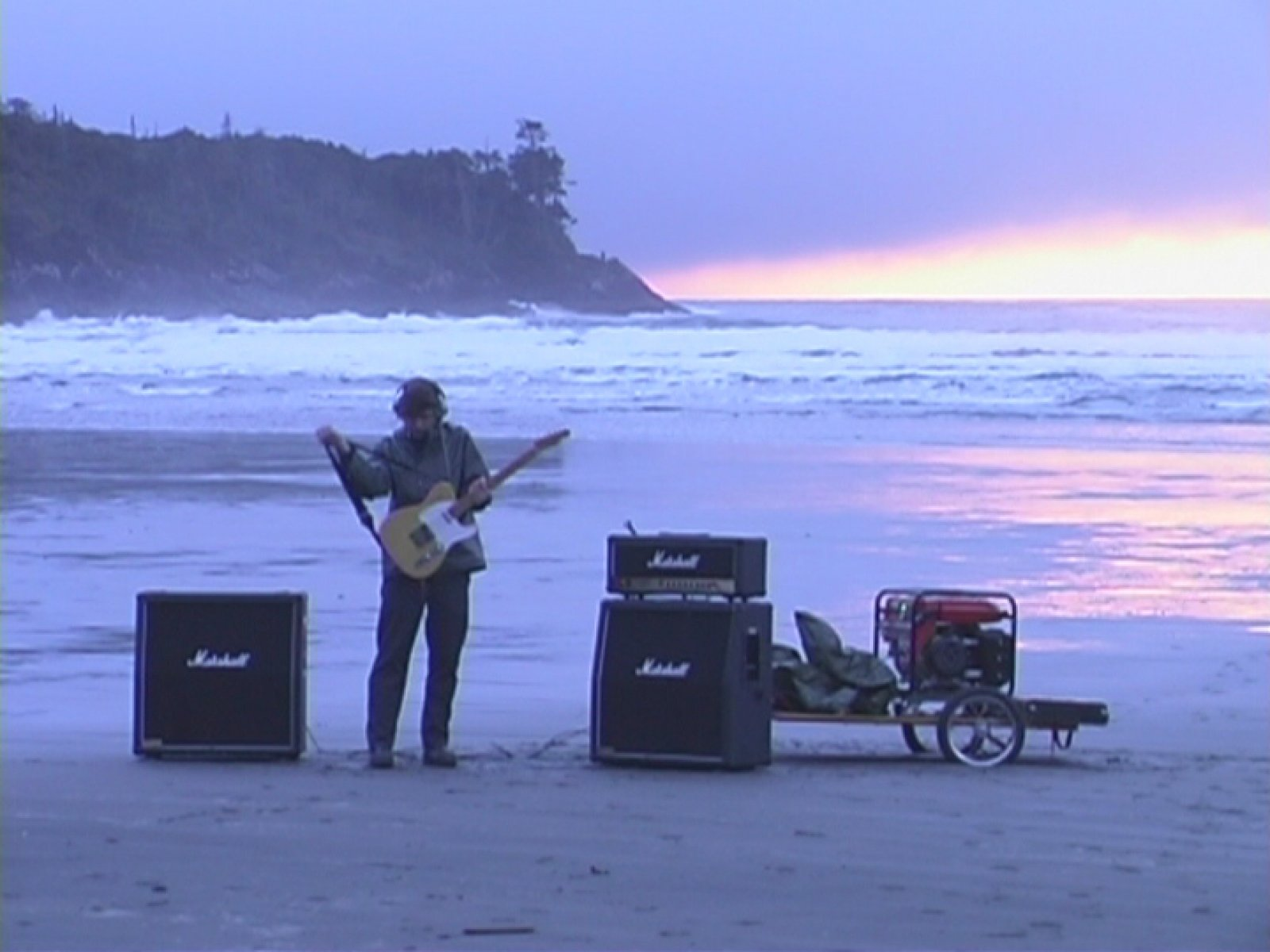 Kevin Schmidt,Long Beach Led Zep(still), 2002,single channel video fromDVD,9 minutes, 12 seconds looped