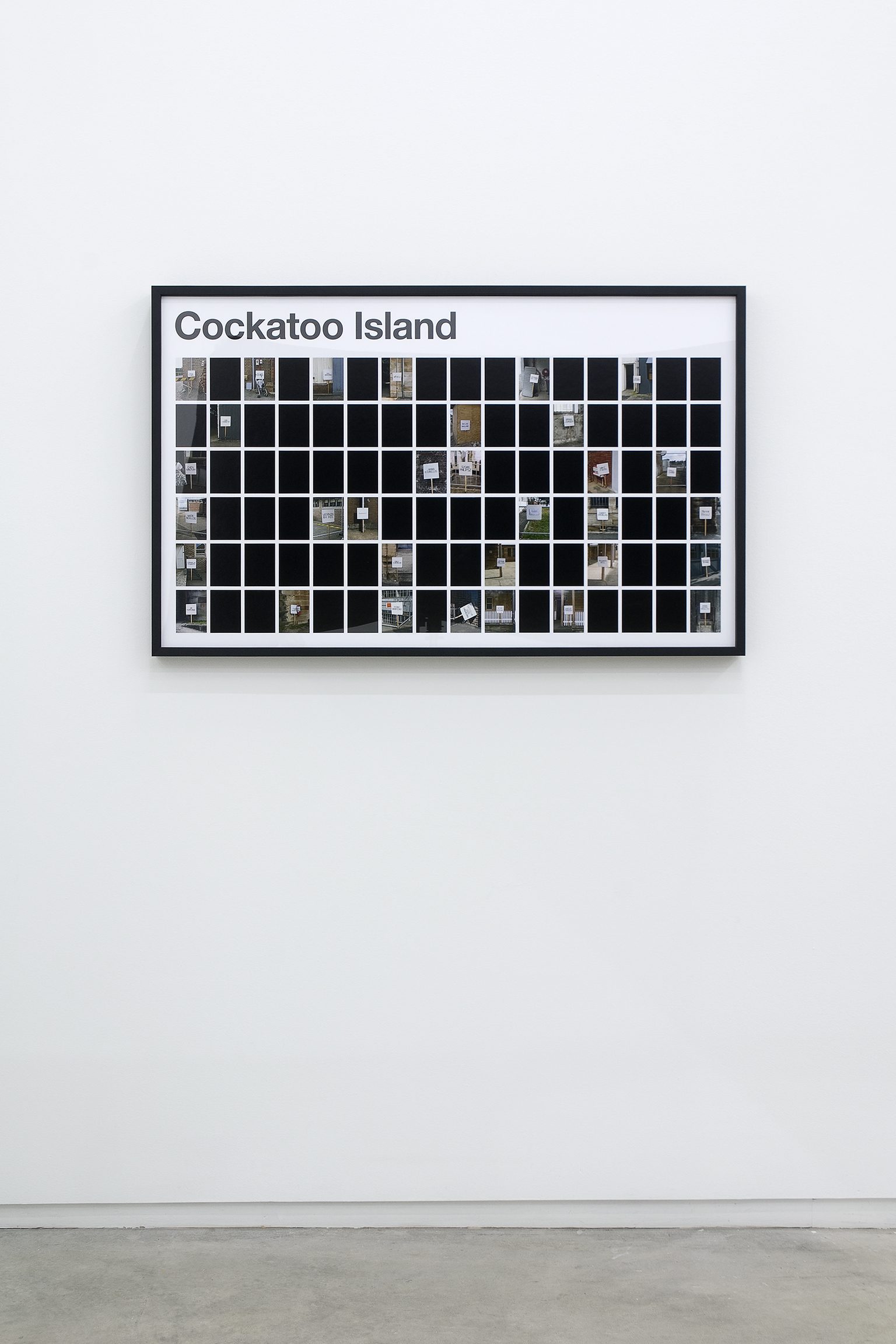 Ron Terada, Cockatoo Island, 2009, pigment ink print on archival paper, 26 x 42 in. (66 x 107 cm) by