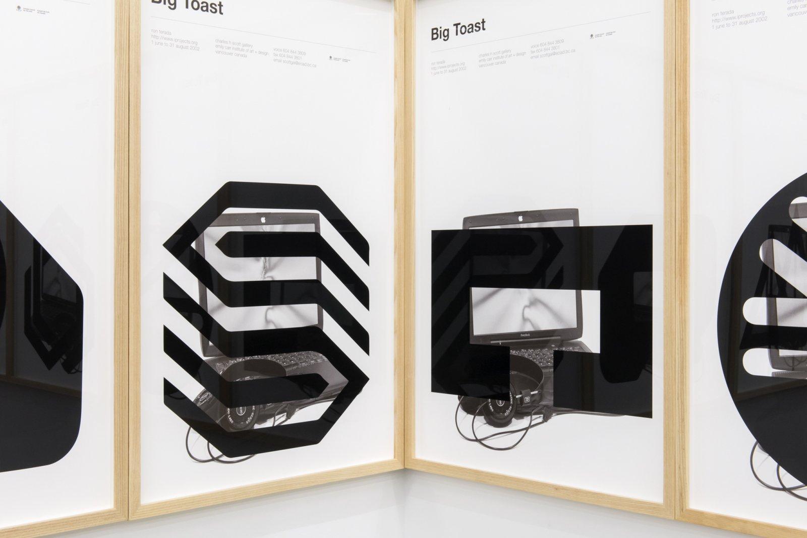 Ron Terada, Big Toast Logo #01–18, 2016, inkjet print on offset printed poster, each 34 x 22 in. (86 x 56 cm) by Ron Terada