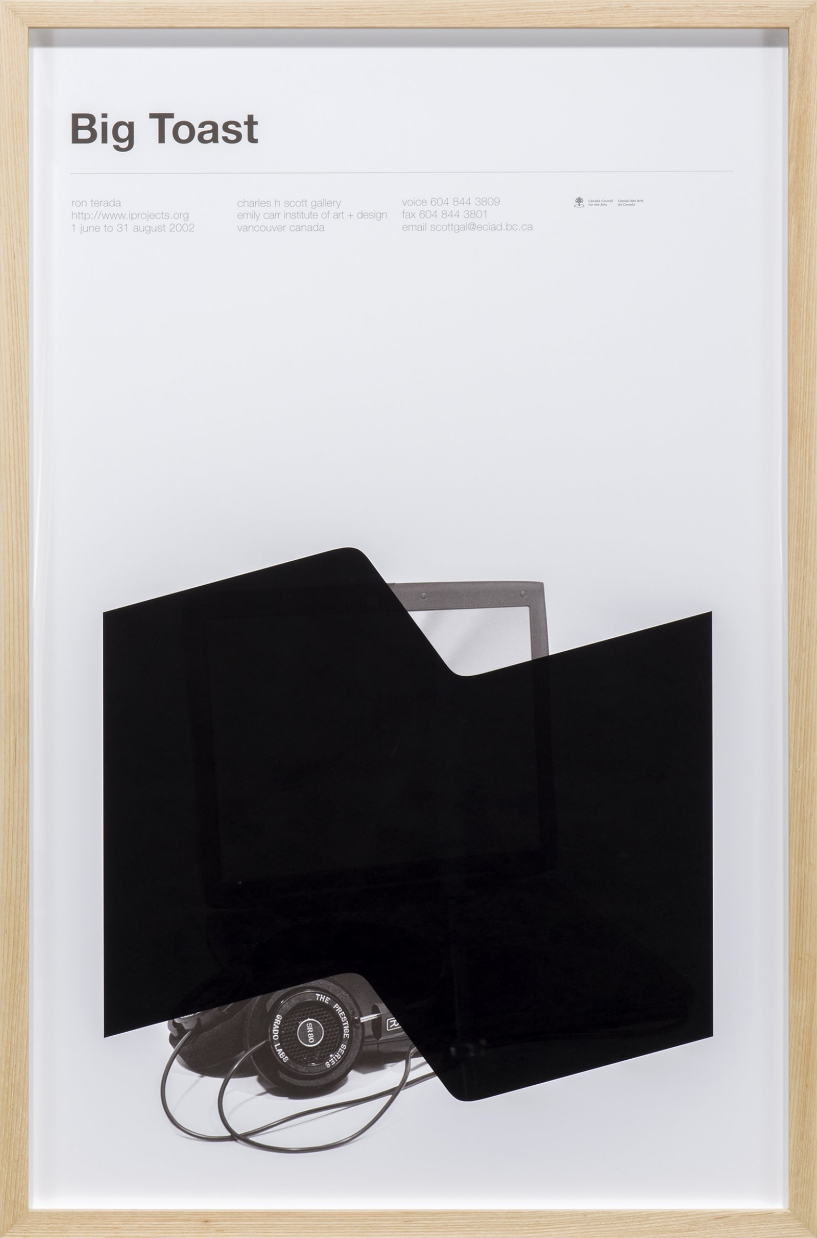Ron Terada, Big Toast Logo #02, 2016, inkjet print on offset printed poster, 34 x 22 in. (86 x 56 cm) by Ron Terada