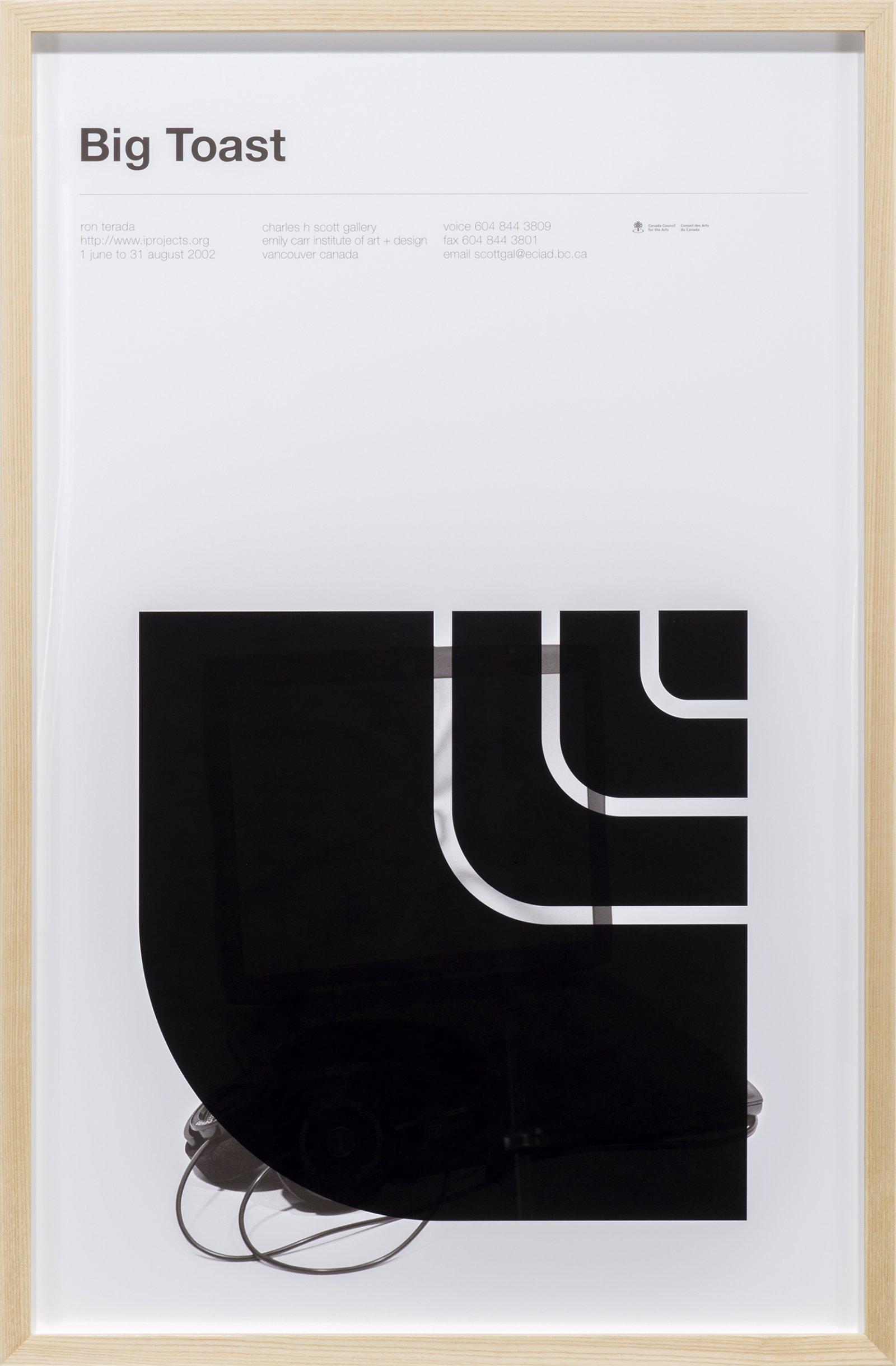 ​Ron Terada, Big Toast Logo #04, 2016, inkjet print on offset printed poster, 34 x 22 in. (86 x 56 cm)​ by Ron Terada