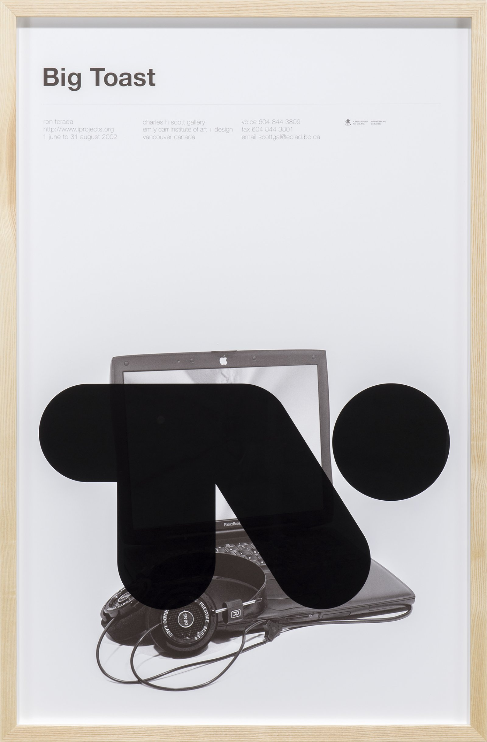 Ron Terada, Big Toast Logo #10, 2016, inkjet print on offset printed poster, 34 x 22 in. (86 x 56 cm) by Ron Terada