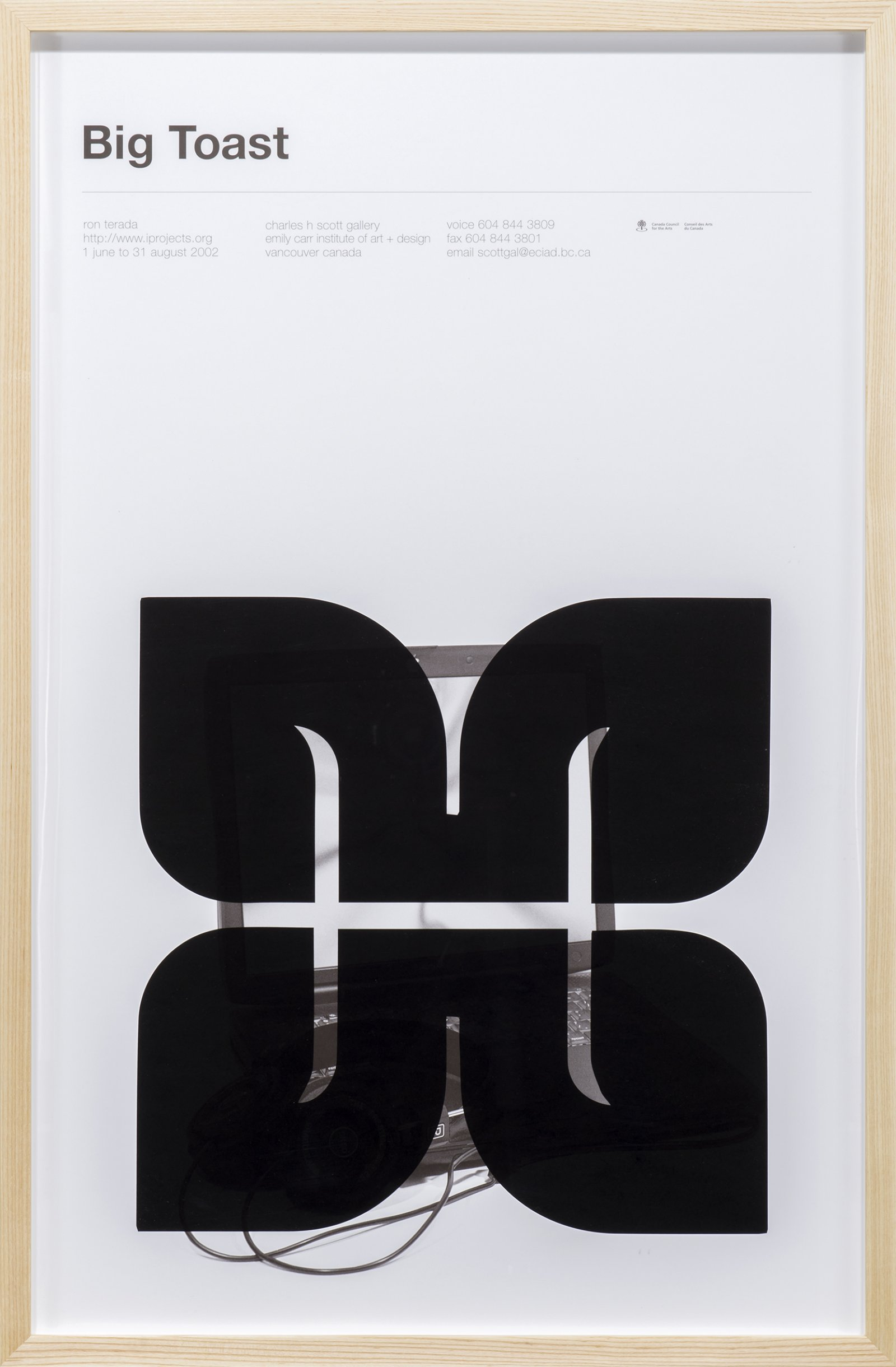 ​​Ron Terada, Big Toast Logo #18, 2016, inkjet print on offset printed poster, 34 x 22 in. (86 x 56 cm)​​​​ by Ron Terada