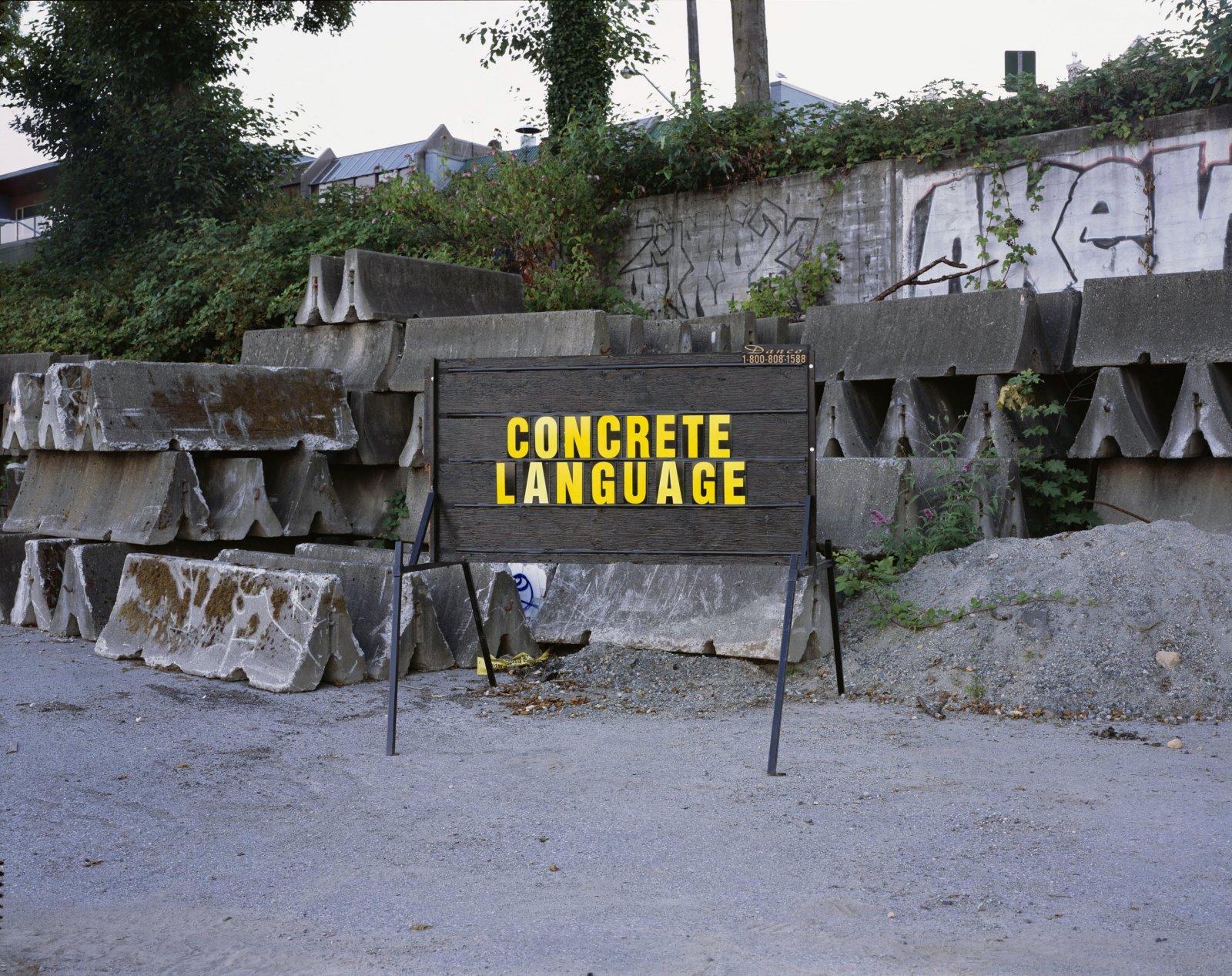 Ron Terada,Concrete Language, 2006, pigment ink print, 44 x 55 in. (112 x 140 cm)