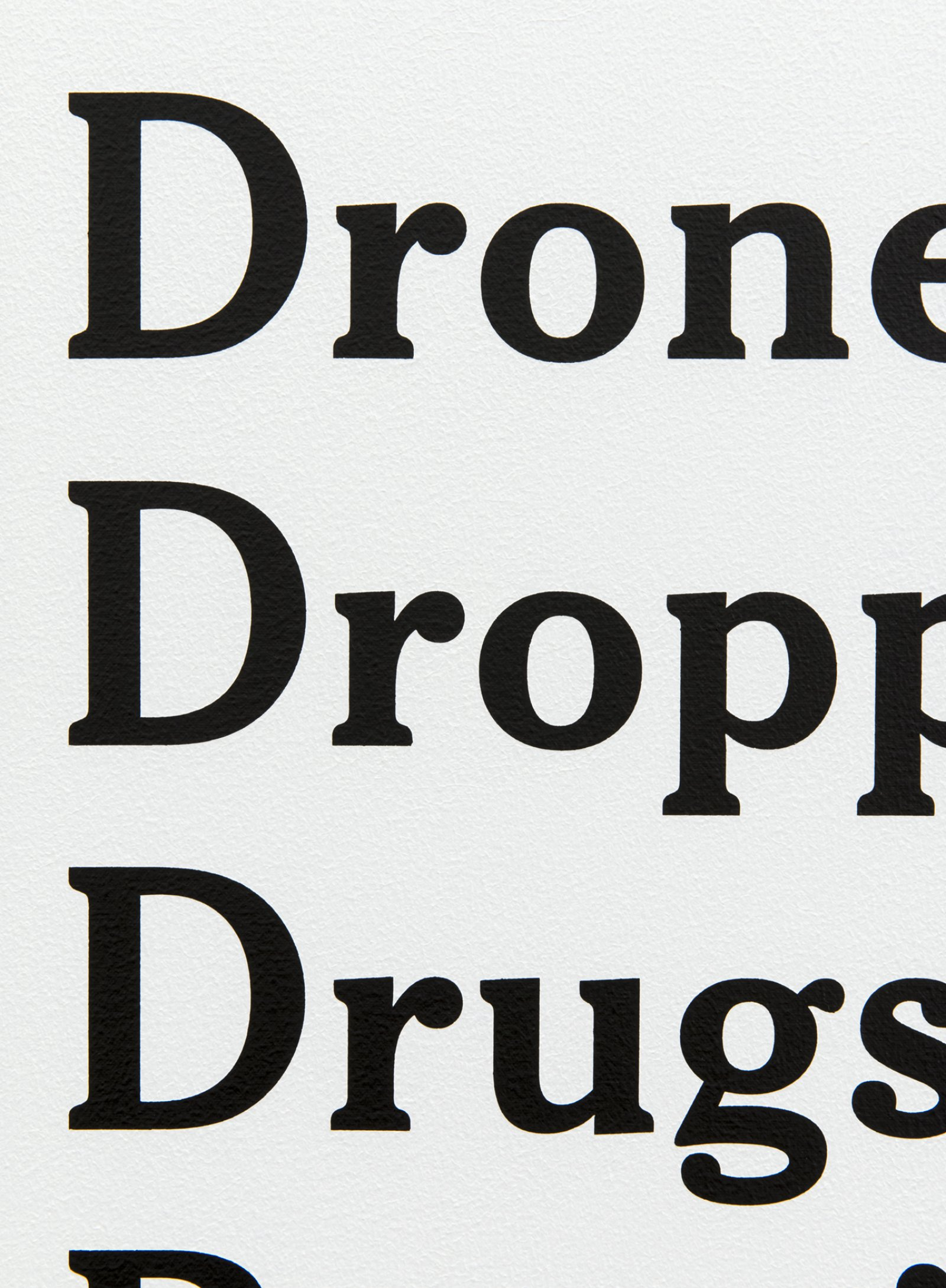 Ron Terada, Drones Keep Dropping Drugs and Porn into Prisons, 18 June 2017, 9:00 am (detail), 2017, acrylic on canvas, 30 x 24 in. (76 x 61 cm) by Ron Terada