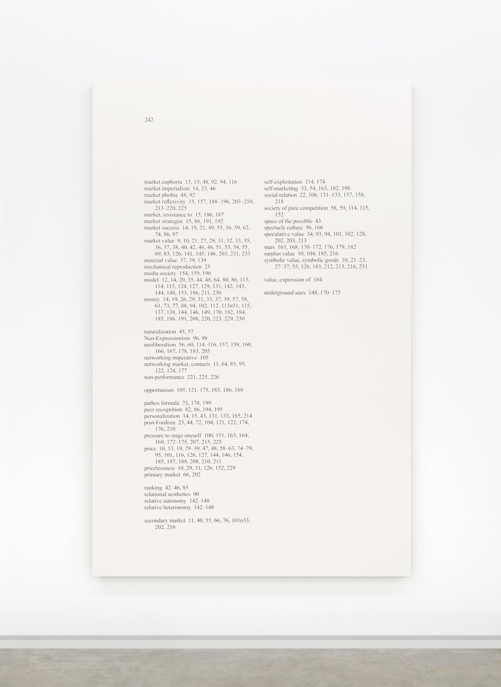 "Ron Terada,High Price ""B"", 2013, acrylic on linen, 95 x 61 in. (241 x 155 cm)"