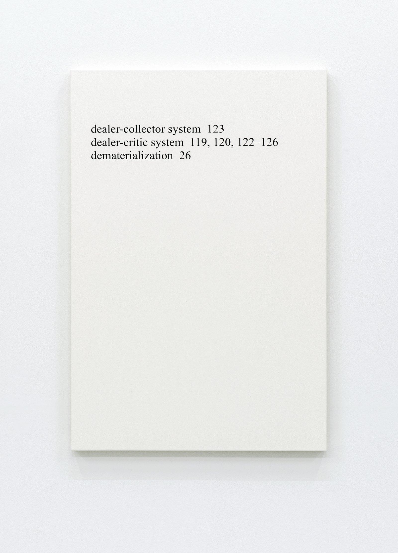 "Ron Terada,High Price ""D"", 2013, acrylic on canvas, 36 x 24 in. (91 x 61 cm)"