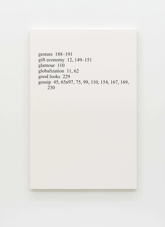 "Ron Terada,High Price ""G"", 2013, acrylic on canvas, 36 x 24 in. (91 x 61 cm)"