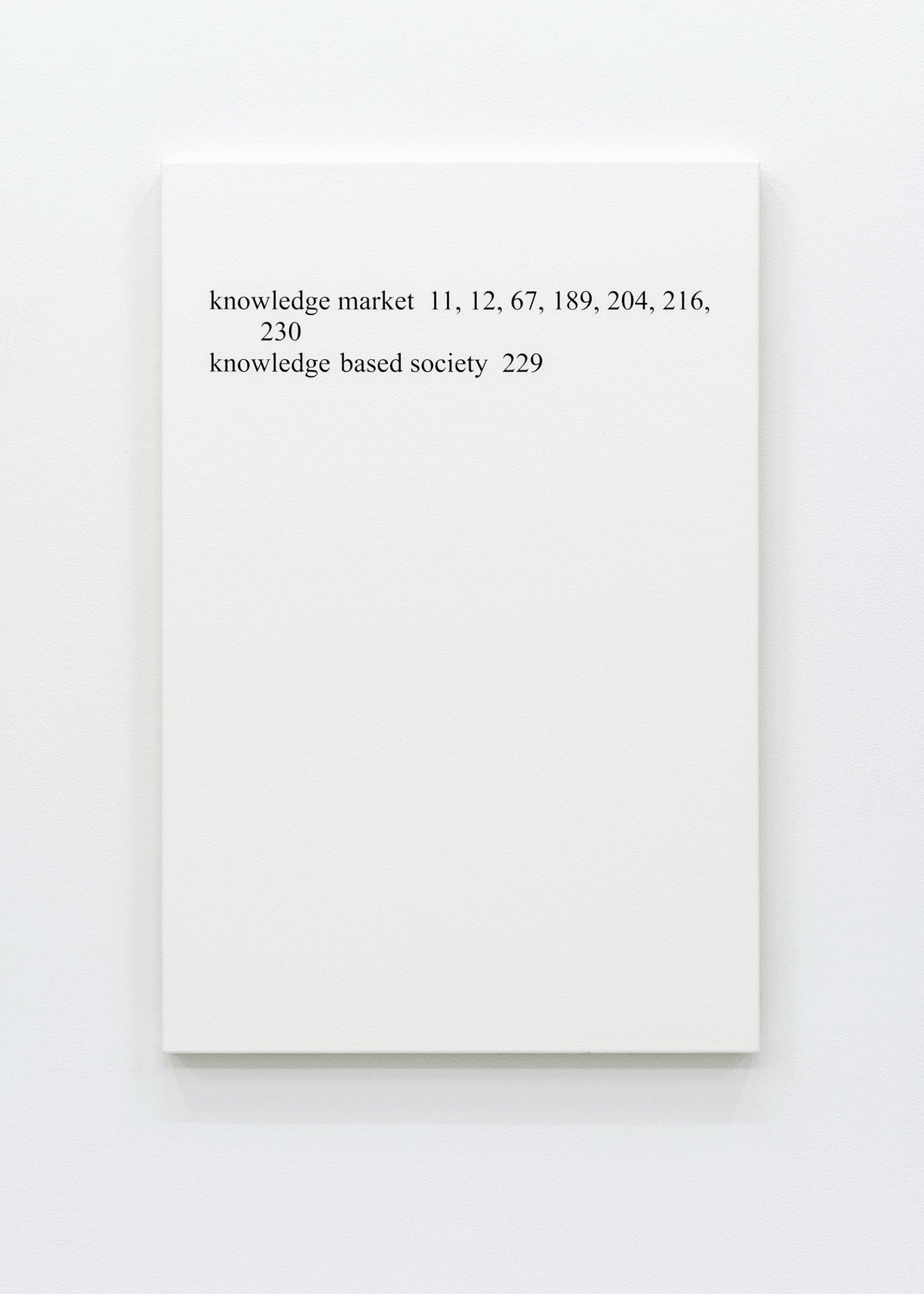 "Ron Terada,High Price ""K"", 2013, acrylic on canvas, 36 x 24 in. (91 x 61 cm)"