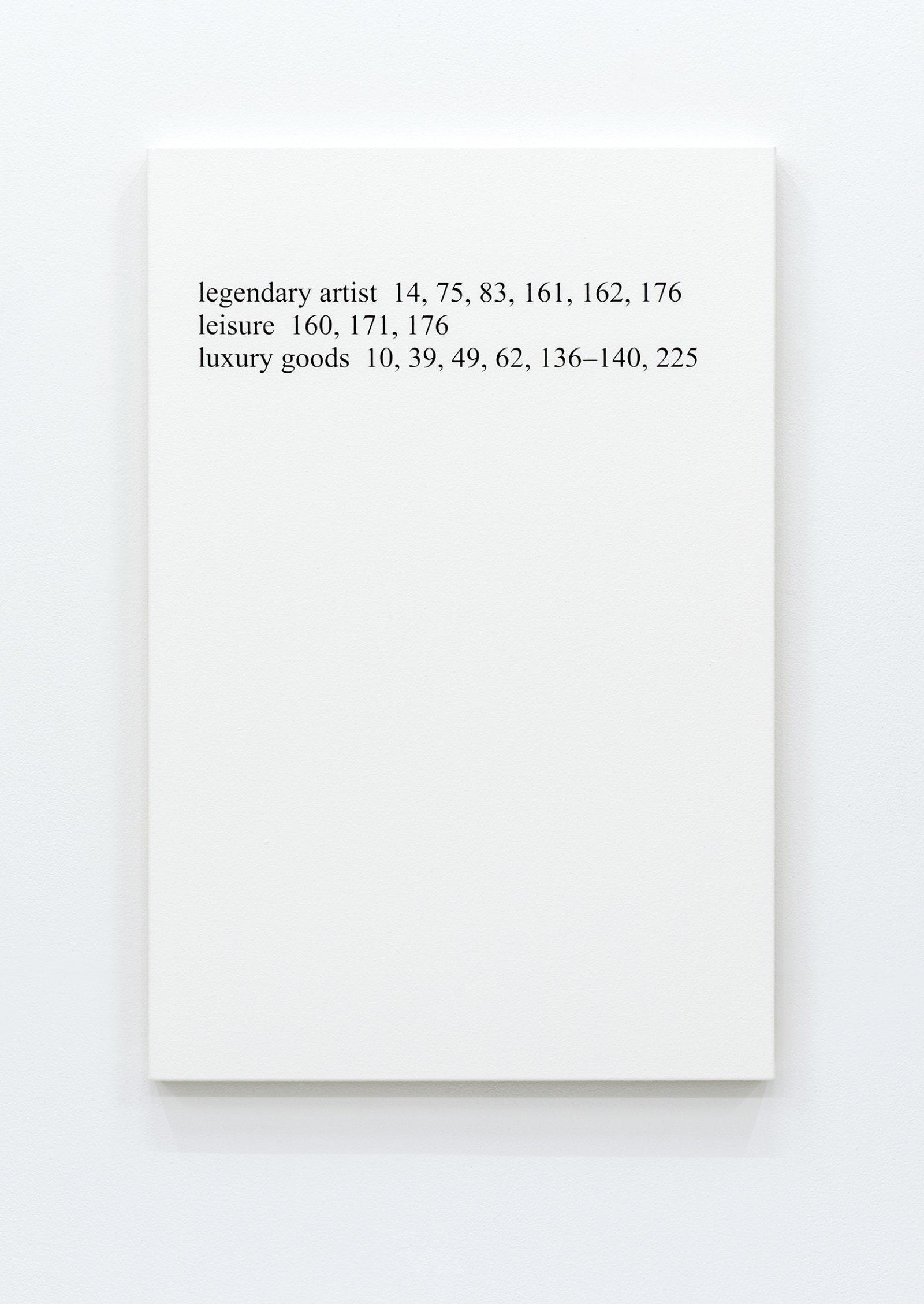 "Ron Terada,High Price ""L"", 2013, acrylic on canvas, 36 x 24 in. (91 x 61 cm)"