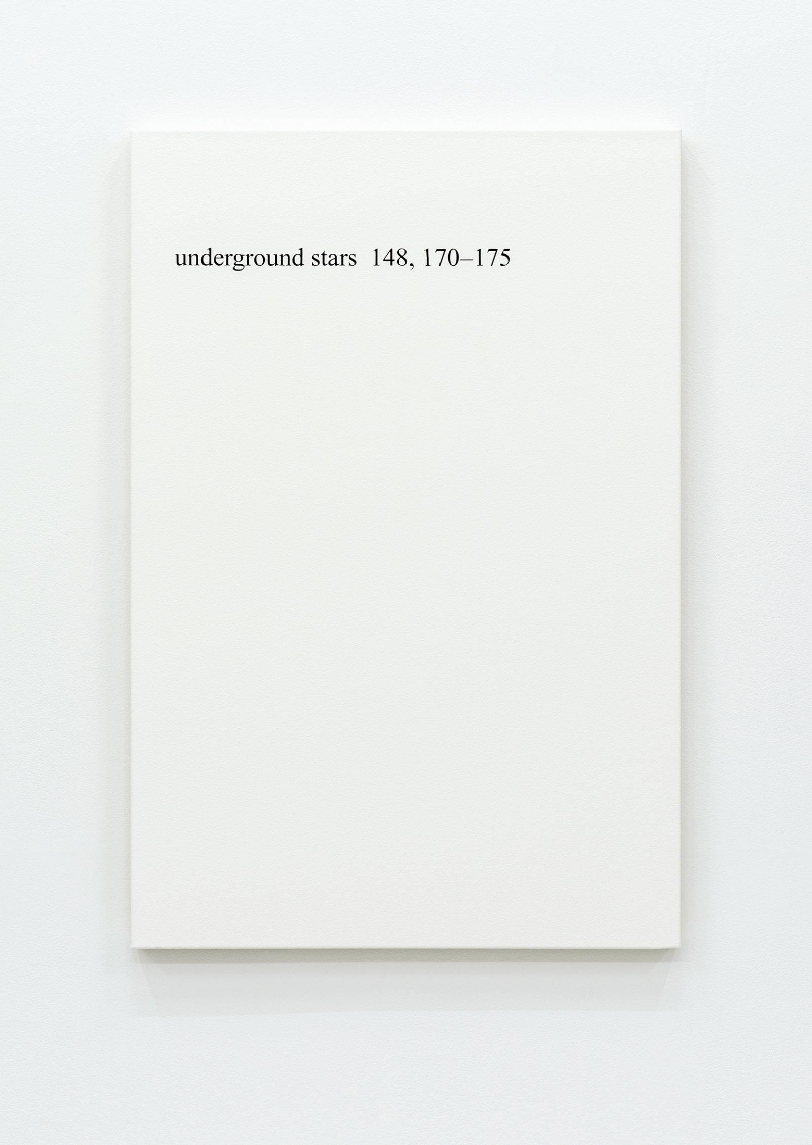 """Ron Terada,High Price """"U"""", 2013, acrylic on canvas, 36 x 24 in. (91 x 61 cm)"""