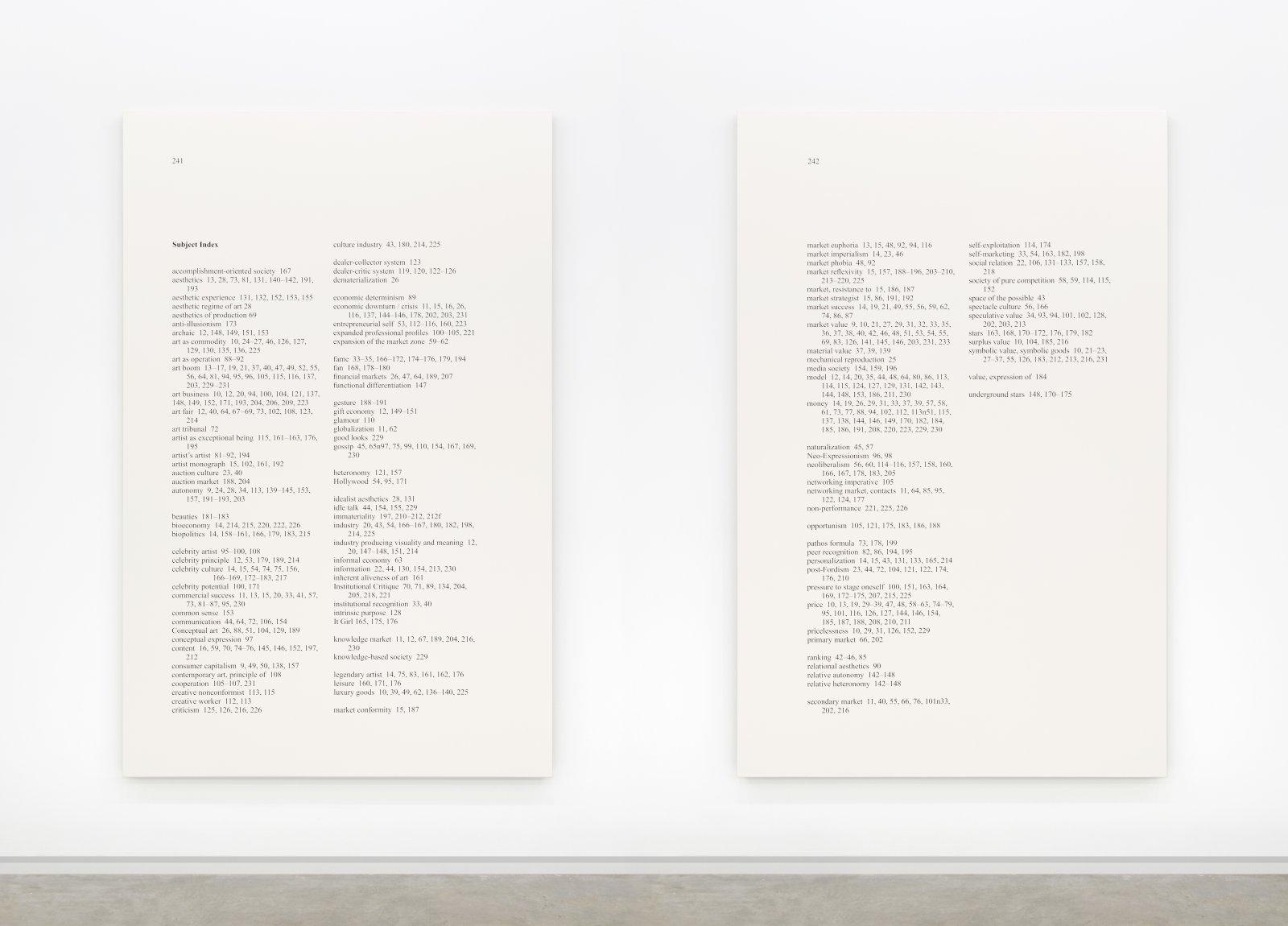 Ron Terada,High Price, 2012, acrylic on linen, 95 x 61 in. (241 x 155 cm)