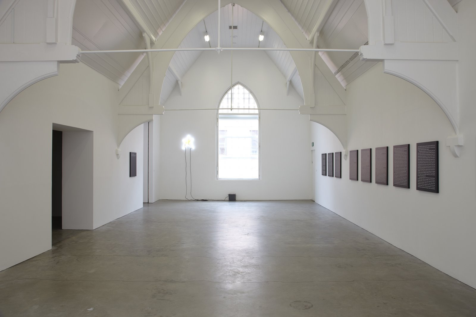 Ron Terada,Jack, 2010, acrylic on canvas, each 30 x 24 in. (76 x 61 cm). Installation view,Who I Think I Am, Ikon Gallery, Birmingham, UK, 2010