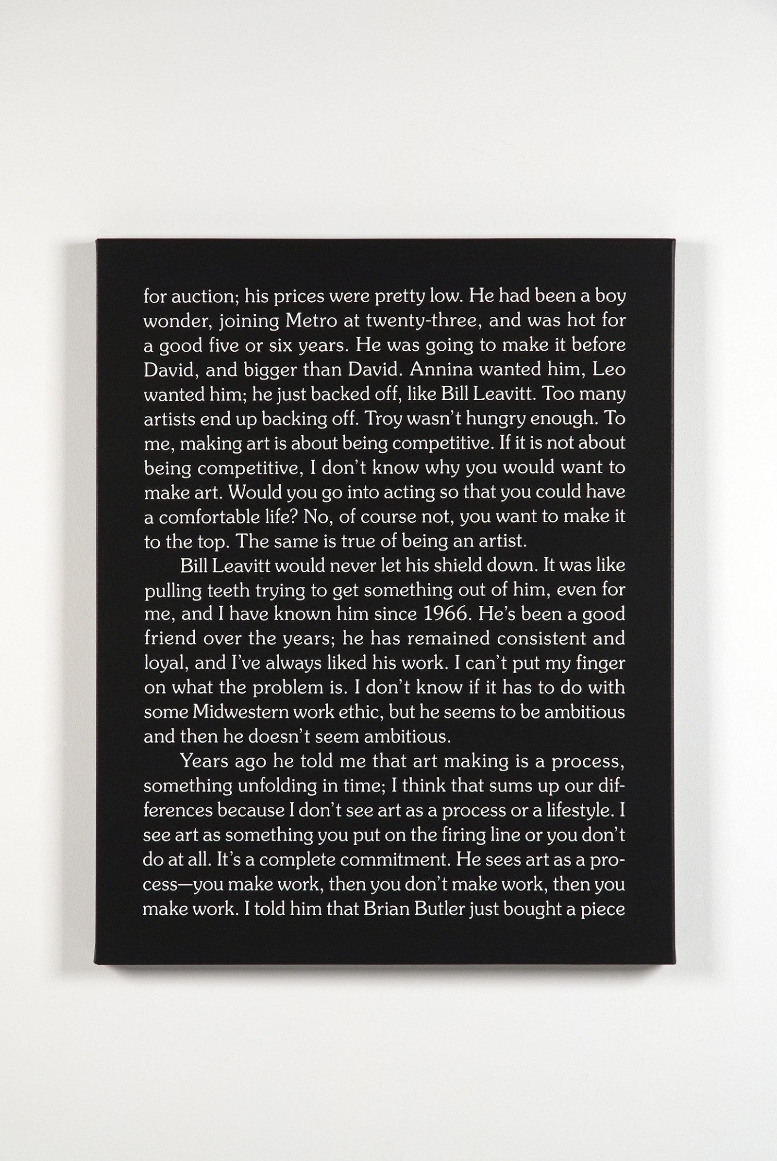 Ron Terada,Jack, 2010, acrylic on canvas,30 x 24 in. (76 x 61 cm)