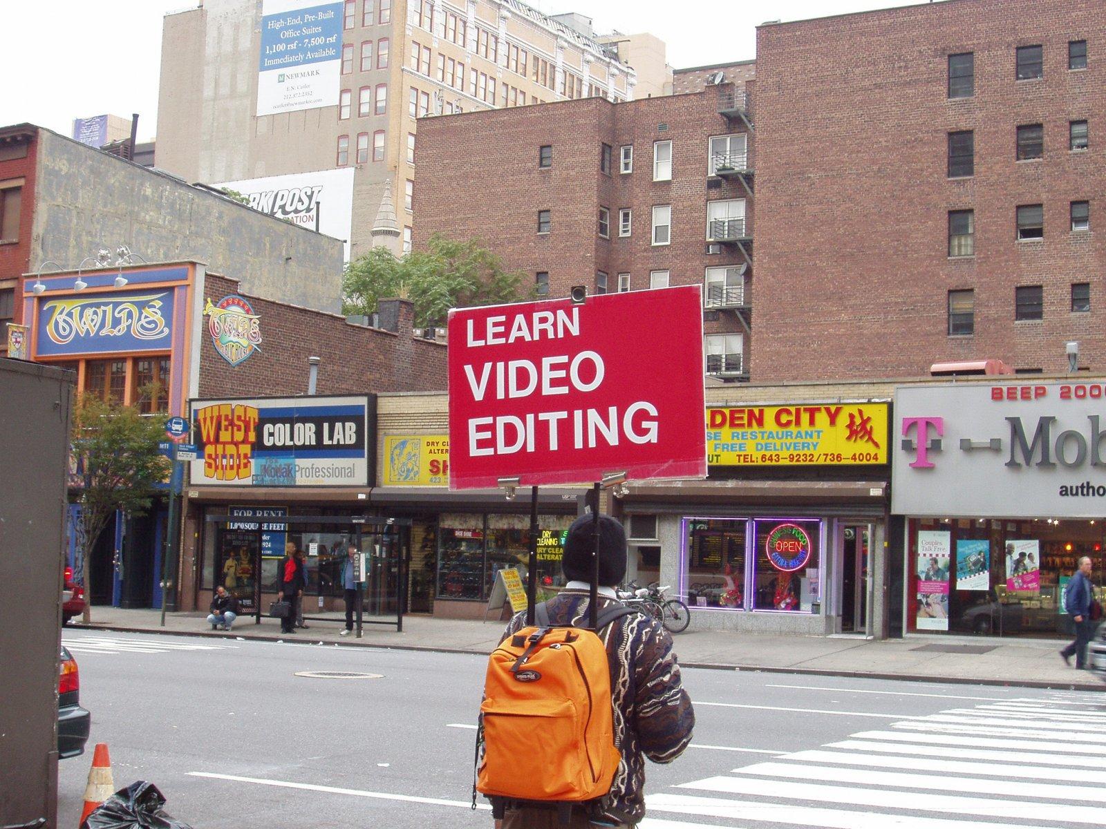 Ron Terada,Learn Video Editing, 2004, digital c-print, 13 x 15 in. (33 x 38 cm)