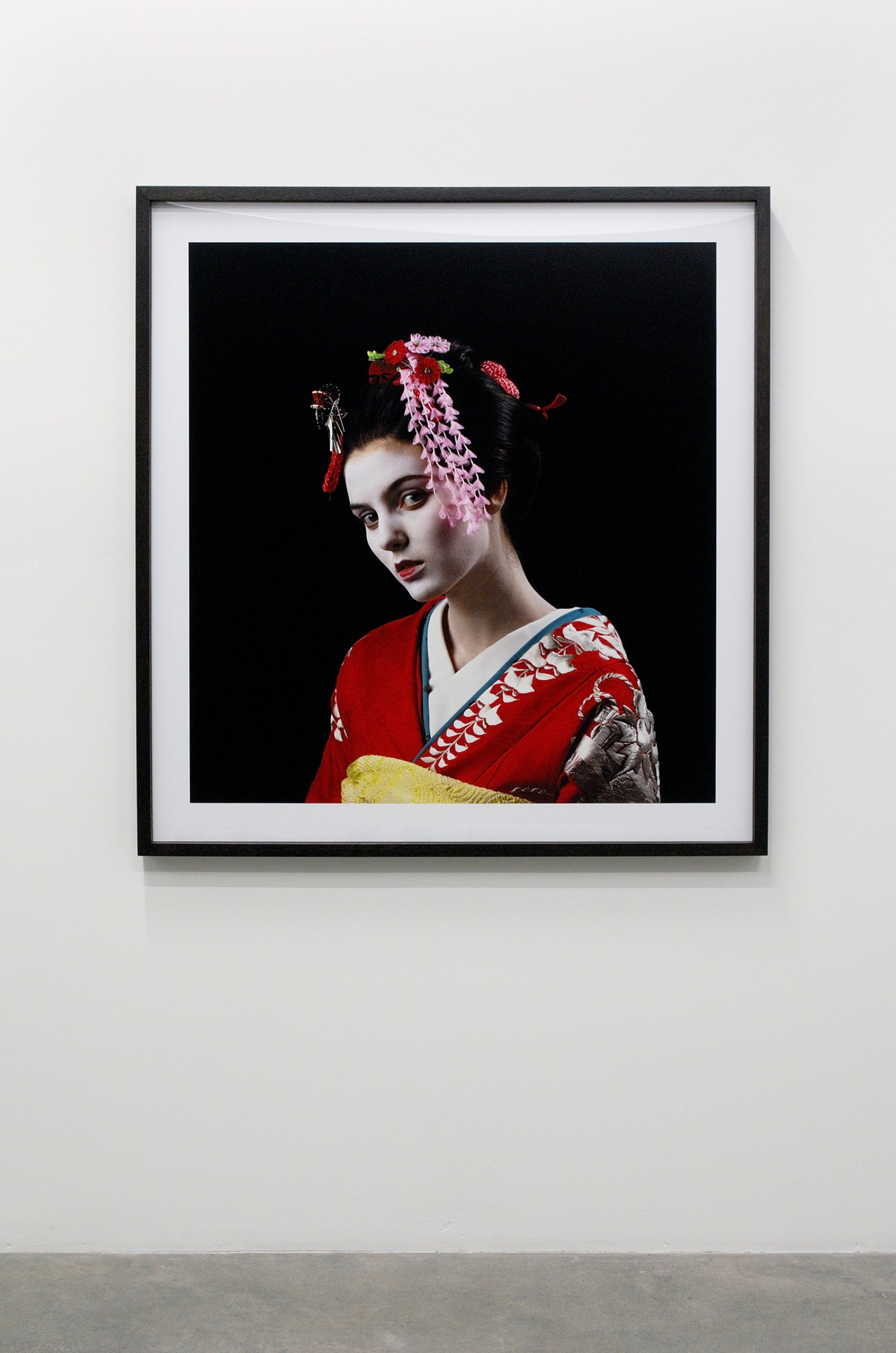 Ron Terada, Maiko #1, Maiko #2, Maiko #3 (detail), 2008, 3 pigment ink prints, 47 x 44 in. (120 x 112 cm) by Ron Terada