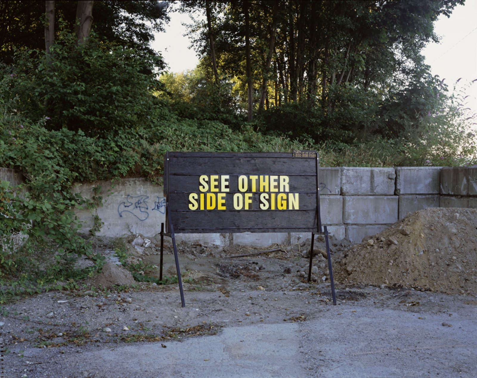 Ron Terada,See Other Side of Sign, 2006, pigment ink print, 44 x 55 in. (112 x 140 cm)