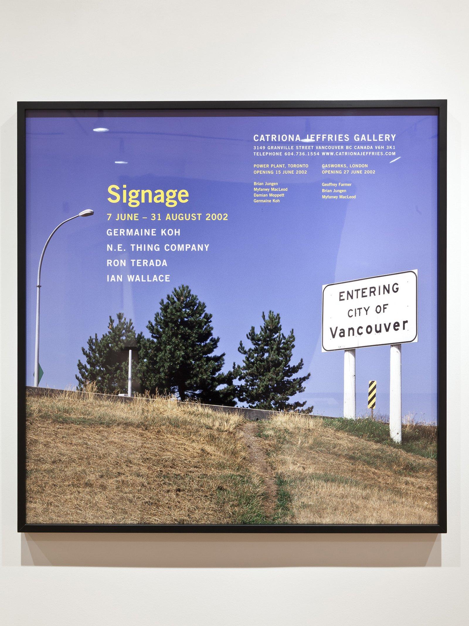 RonTerada,Signage, 2002, colour lightjet photograph,43 x 43 in.(109 x 109 cm)