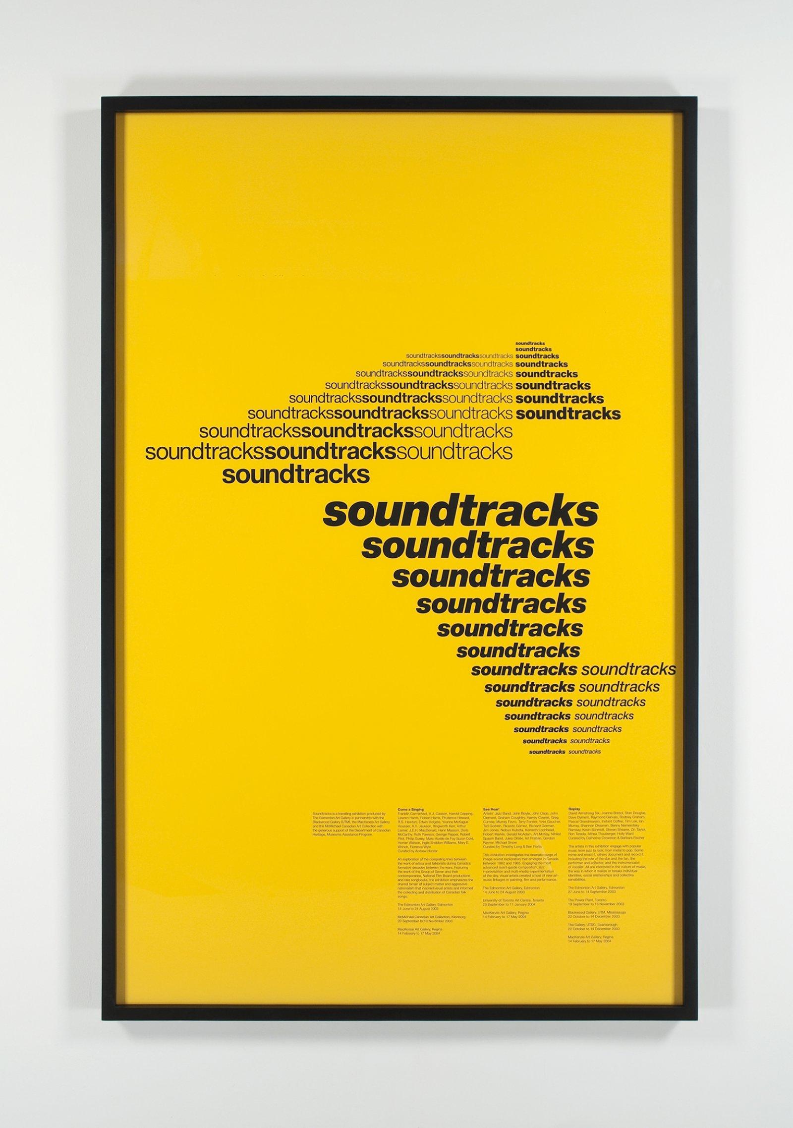 Ron Terada,Soundtracks, 2004, inkjet print, 77 x 50 in. (196 x 126 cm)