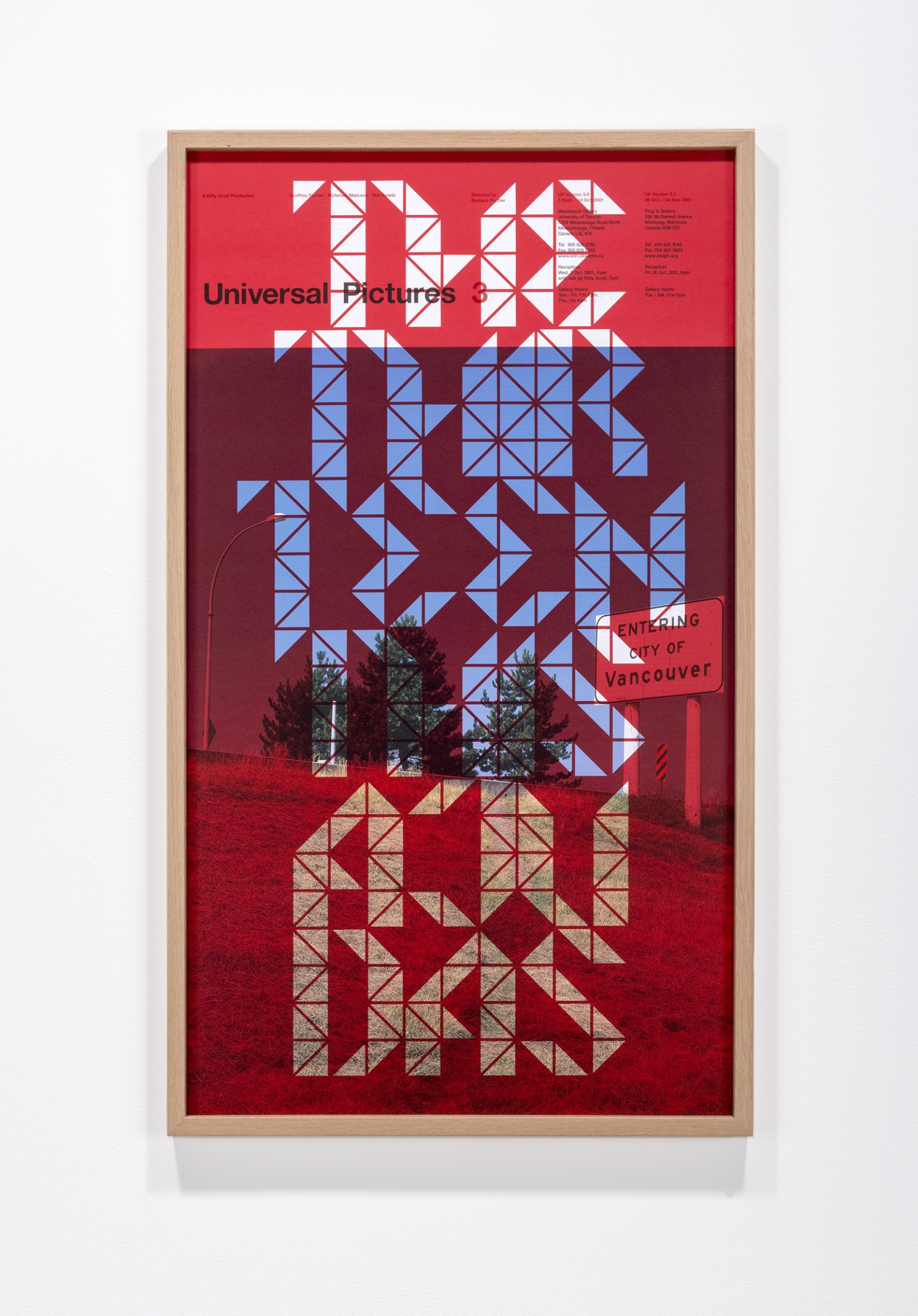 Ron Terada, THE THIRTEENTH IS A JUDAS, 2015, inkjet print on offset printed poster (2001), 35 x 20 in. (89 x 51 cm)