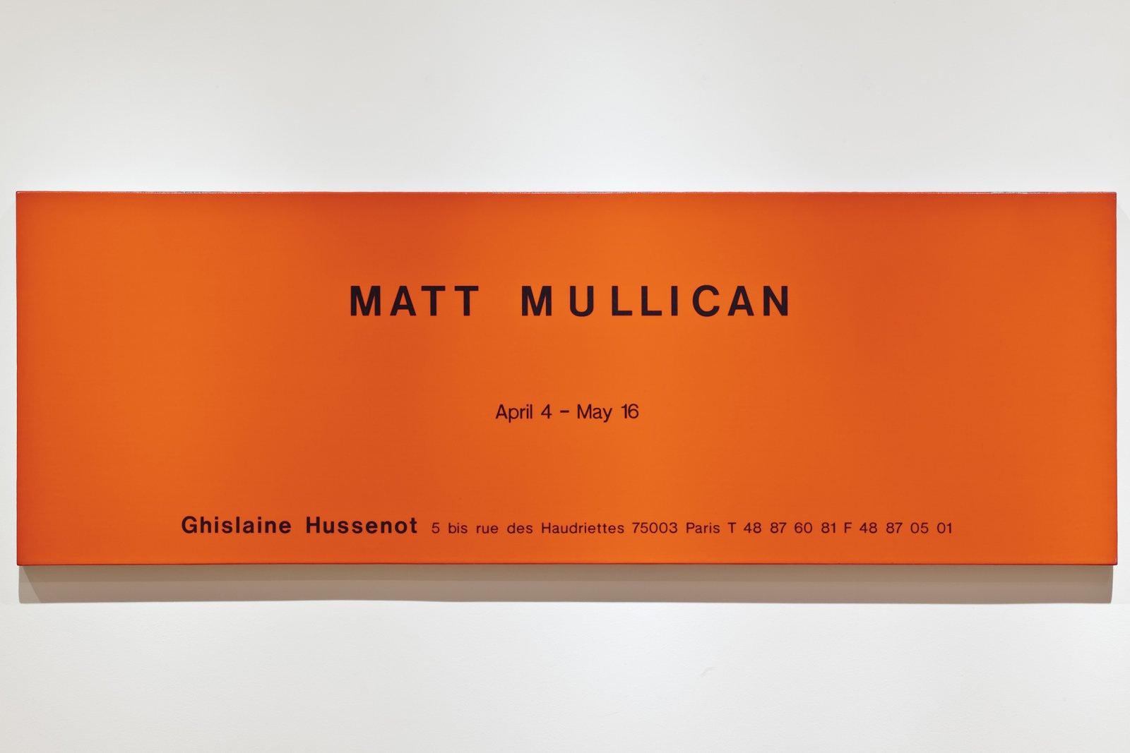 Ron Terada,Untitled (Ad Painting: MattMullican), 1994, acrylic on linen, 24 x 72 in. (61 x 183 cm)