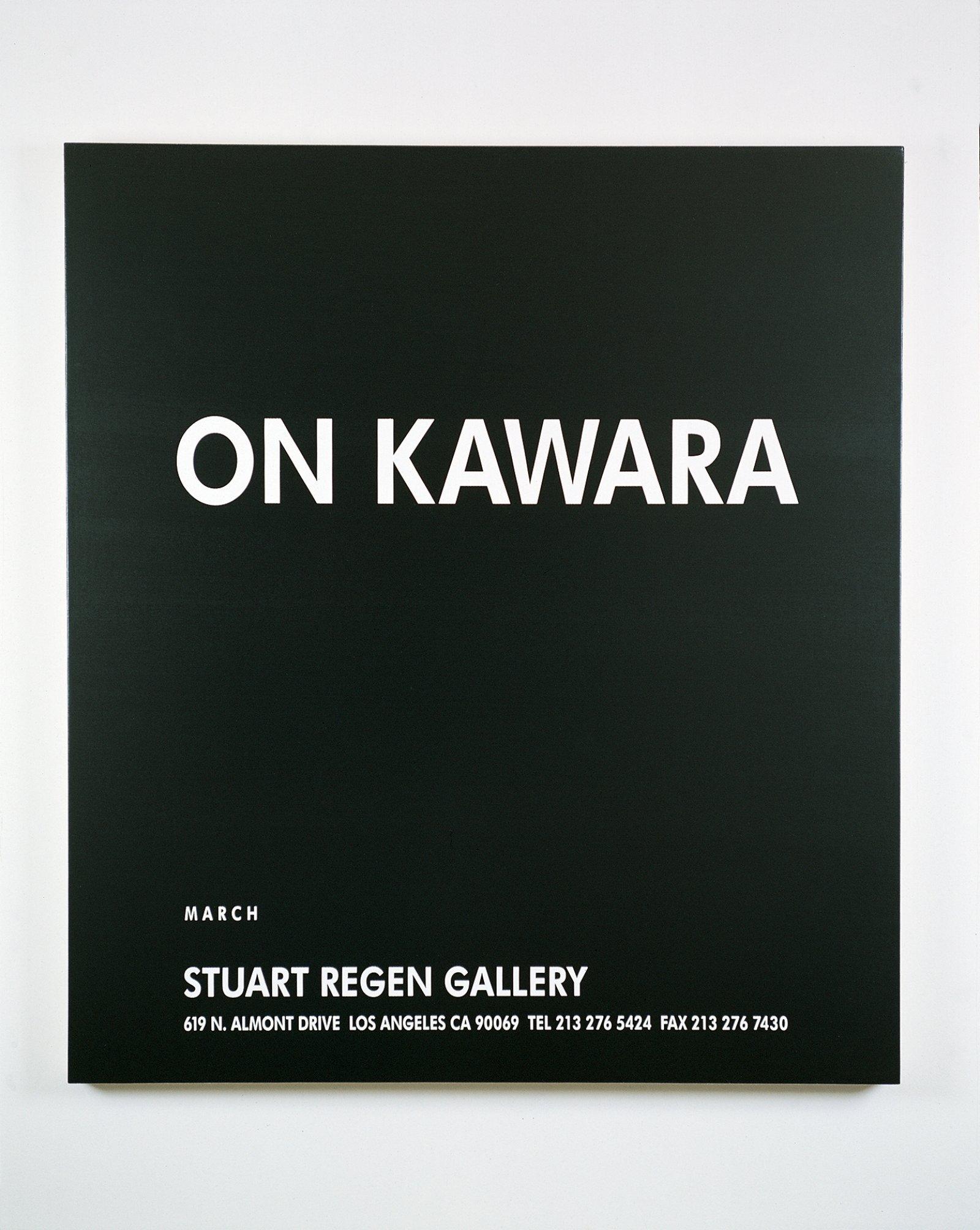 Ron Terada,Untitled (Ad Painting: On Kawara), 1996, acrylic on canvas, 40 x 37 in. (102 x 94 cm)