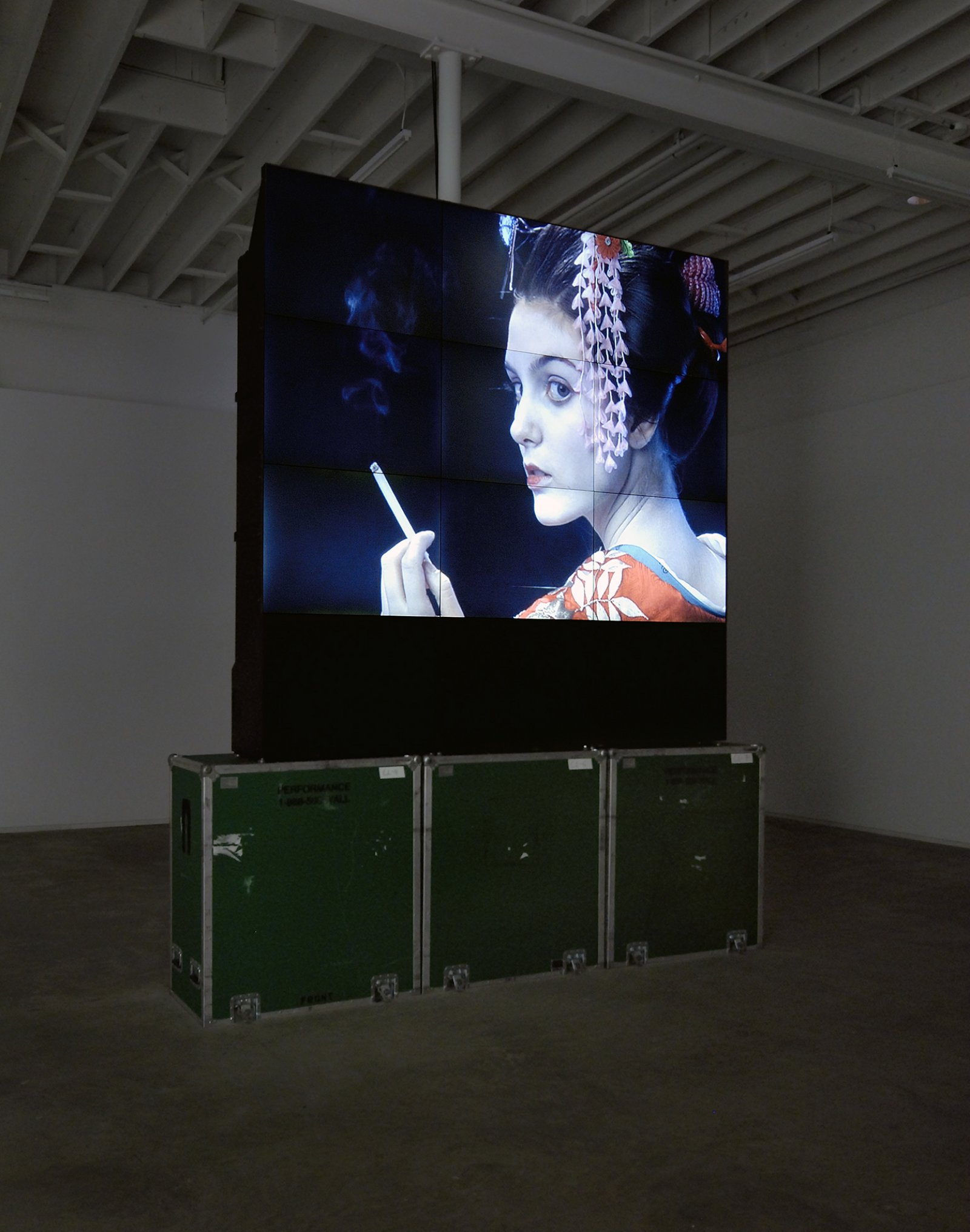 Ron Terada, Voight Kampff, 2008, single channel blu-ray DVD: 2 minutes, edition of 4, dimensions variable by Ron Terada