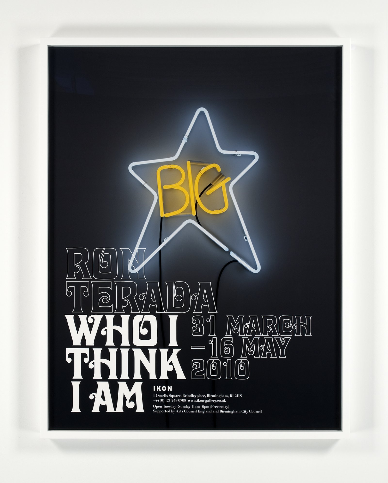 Ron Terada,Who I Think I Am, 2010,pigment ink print, 53 x 42 in. (135 x 105 cm)