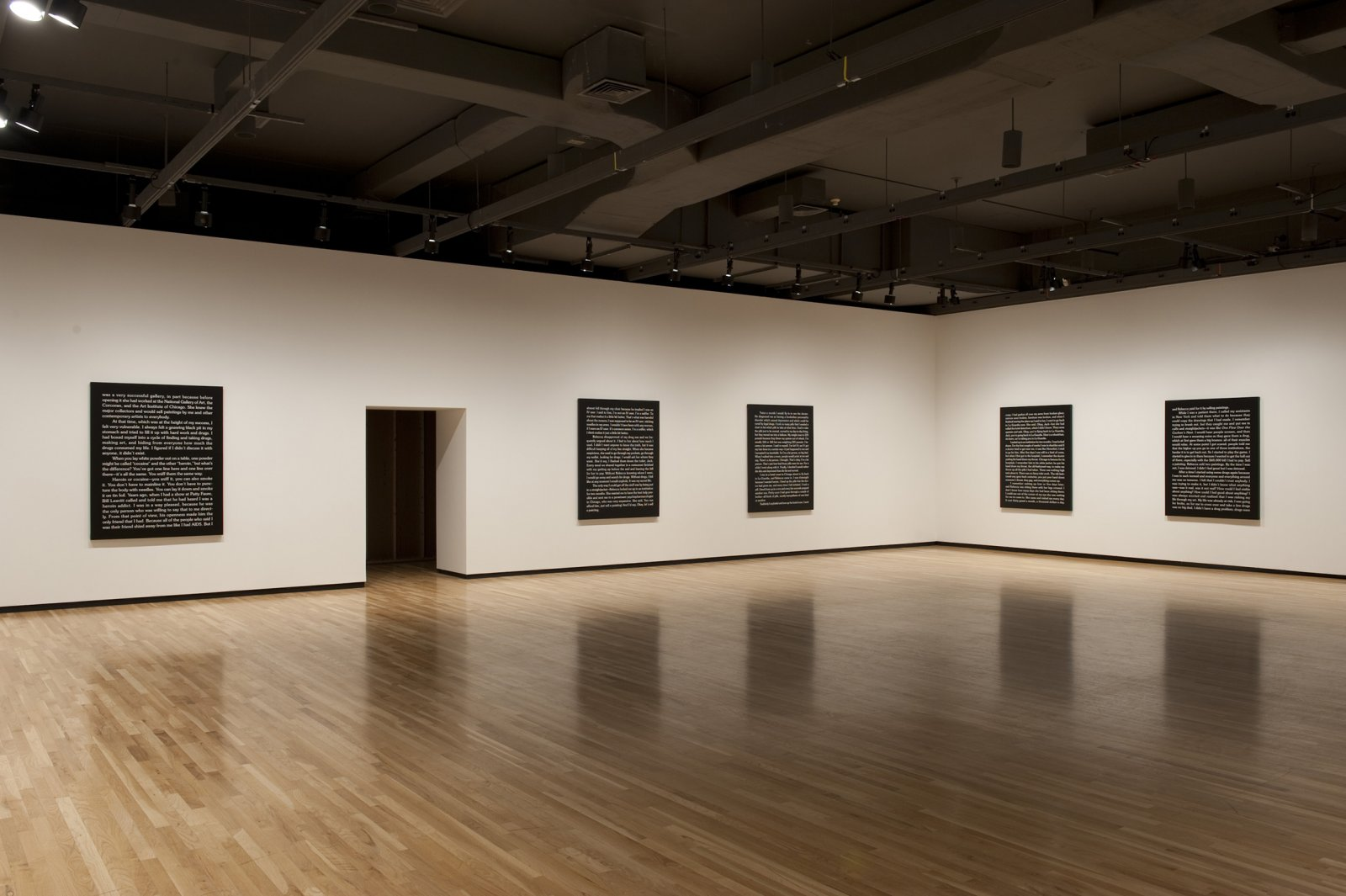 Ron Terada, Jack, 2010, acrylic on canvas, each 60 x 48 in. (152 x 122 cm). Installation view, Who I Think I Am, Walter Phillips Gallery, Banff, AB, 2010