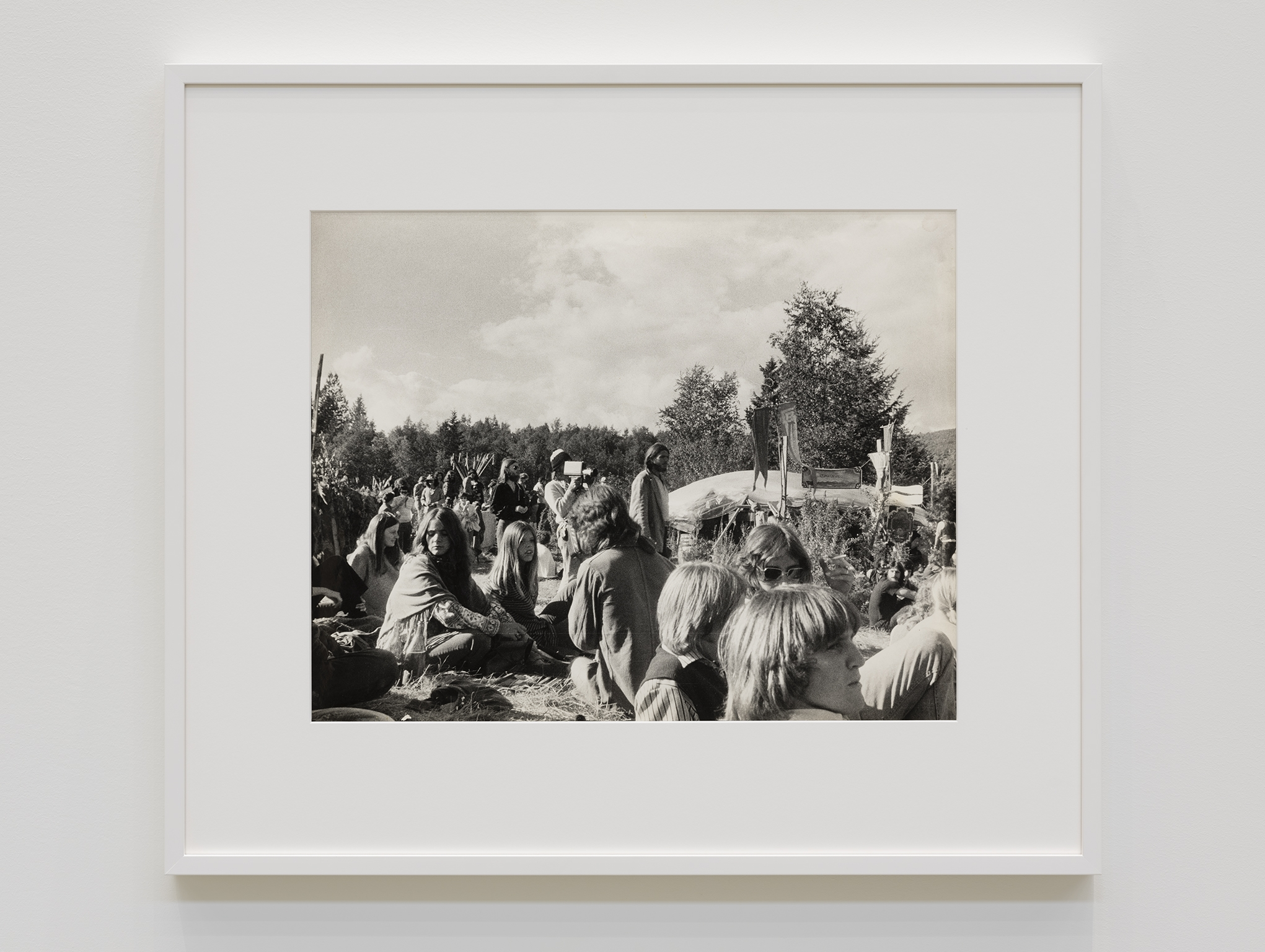 Ian Wallace, At the Pleasure Faire, 1971, silver gelatin print, 25 x 29 in. (62 x 72 cm) by