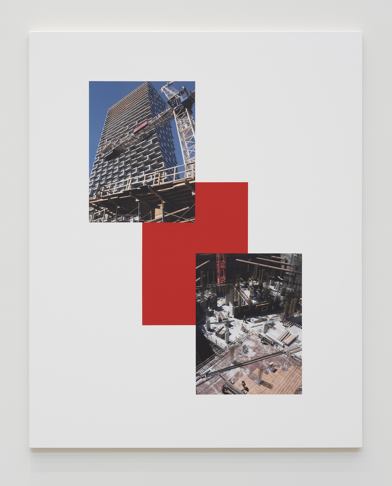 Ian Wallace, Base/Superstructure, (Vancouver House), 2019, photolaminate with acrylic on canvas, 60 x 48 in. (152 x 122 cm) by
